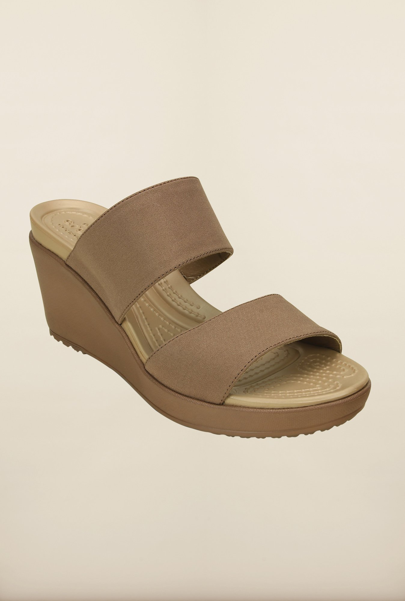 Crocs Leigh II Bronze Wedges