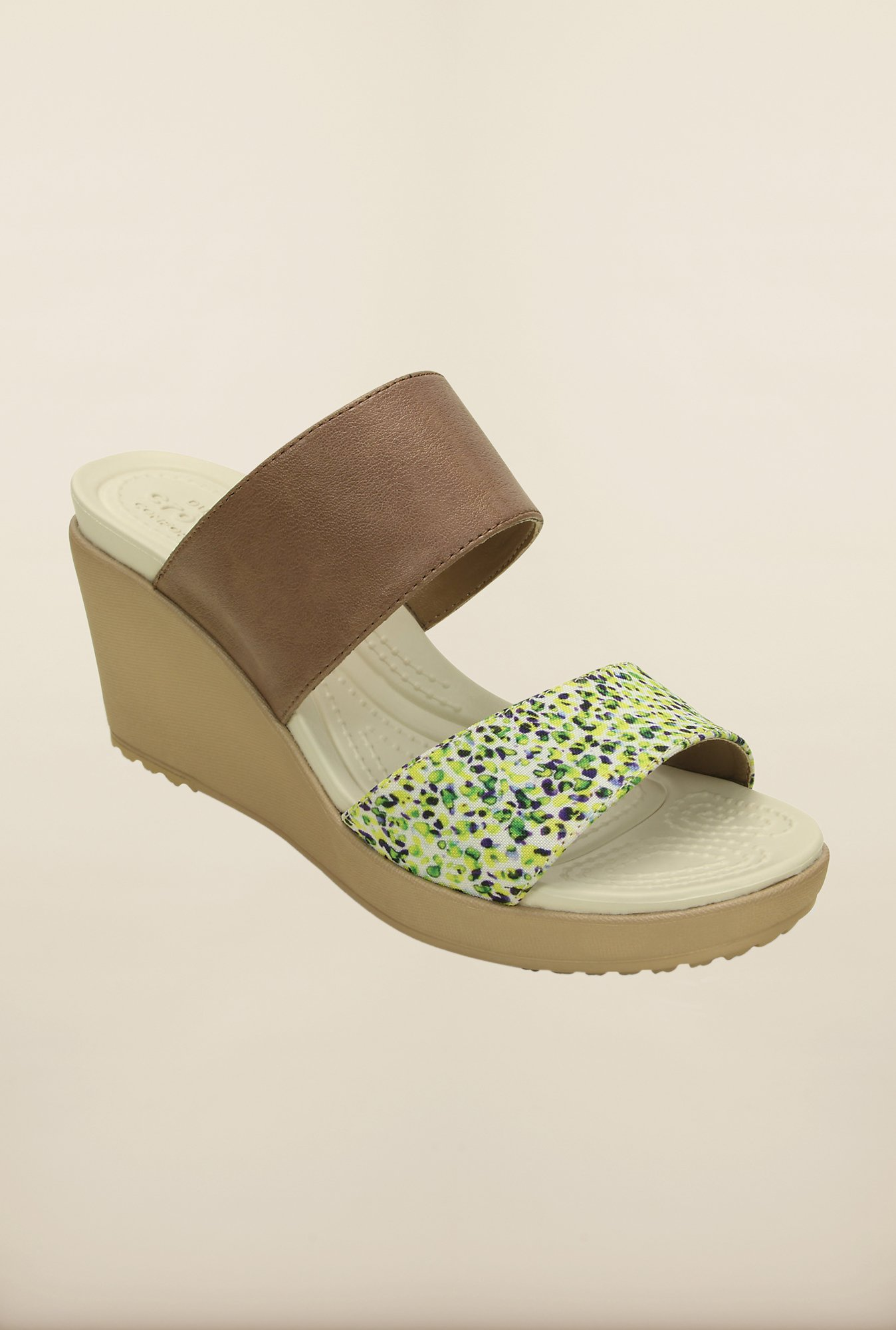 Crocs Leigh II Bronze & Gold Wedges