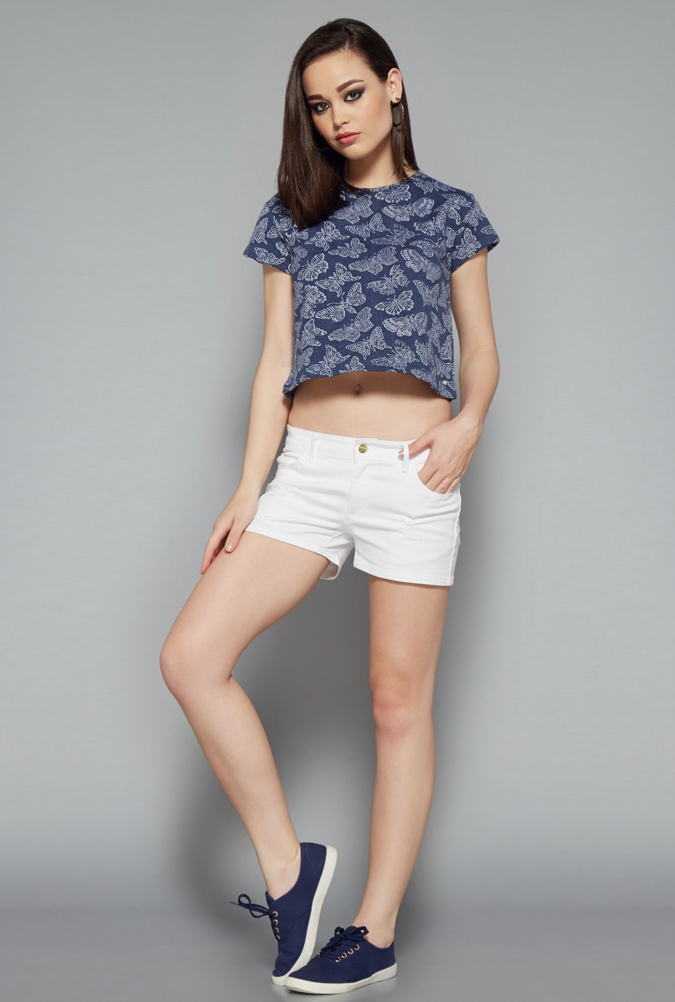Nuon Blue Printed Top