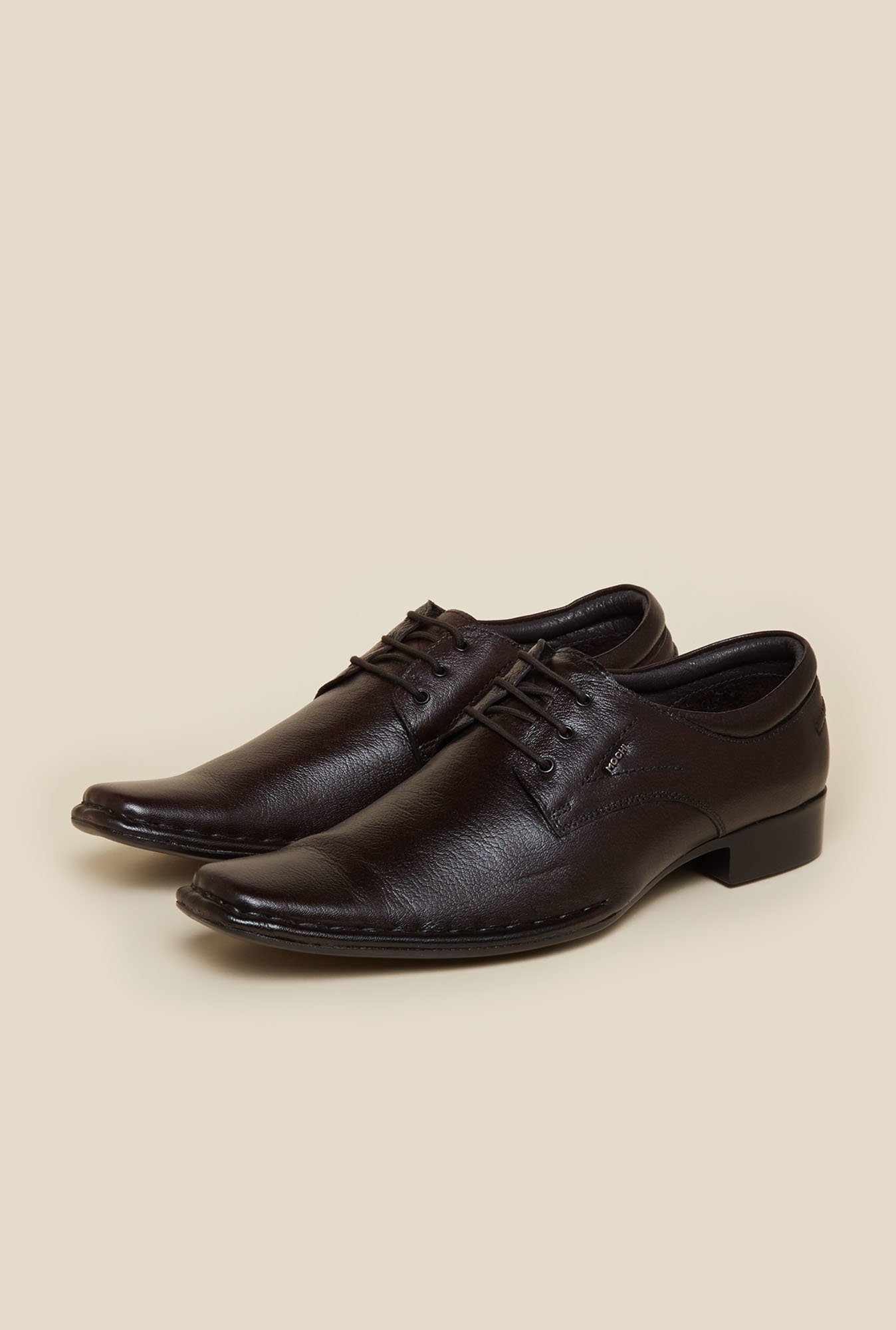 Mochi Dark Brown Leather Derby Shoes