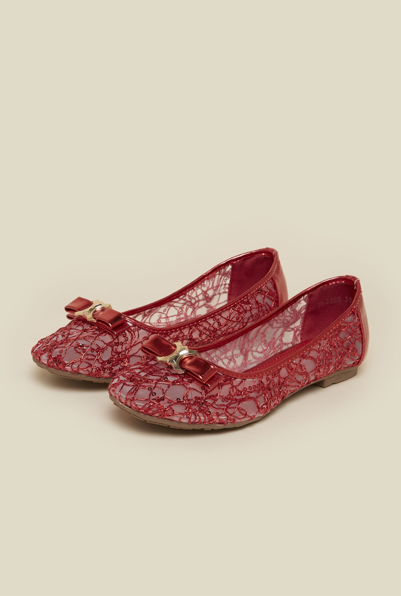 Mochi Red Flat Ballerinas