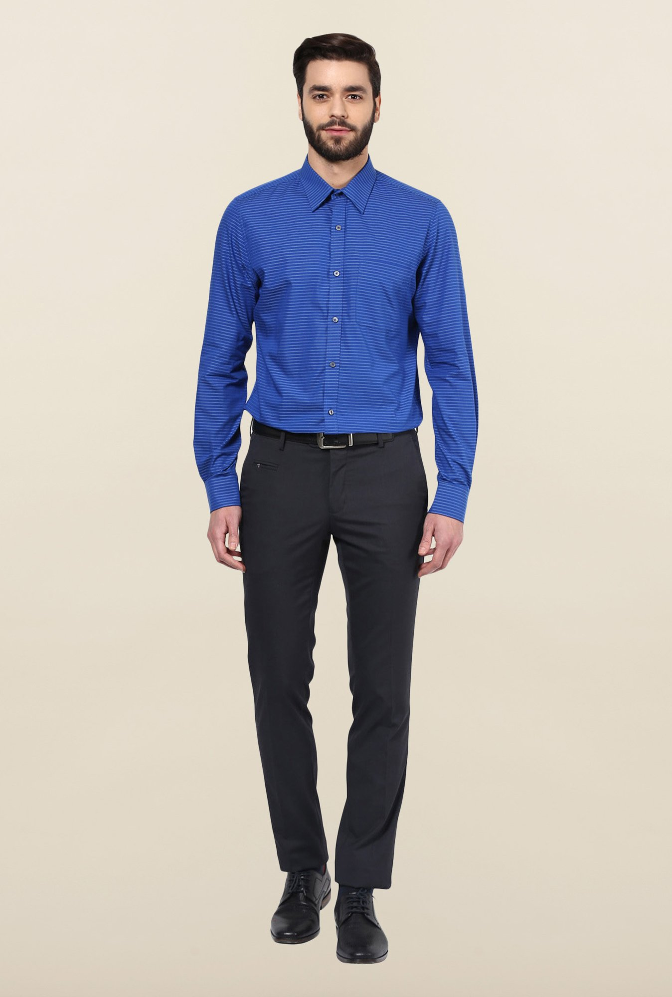 Turtle Blue Cotton Formal Shirt