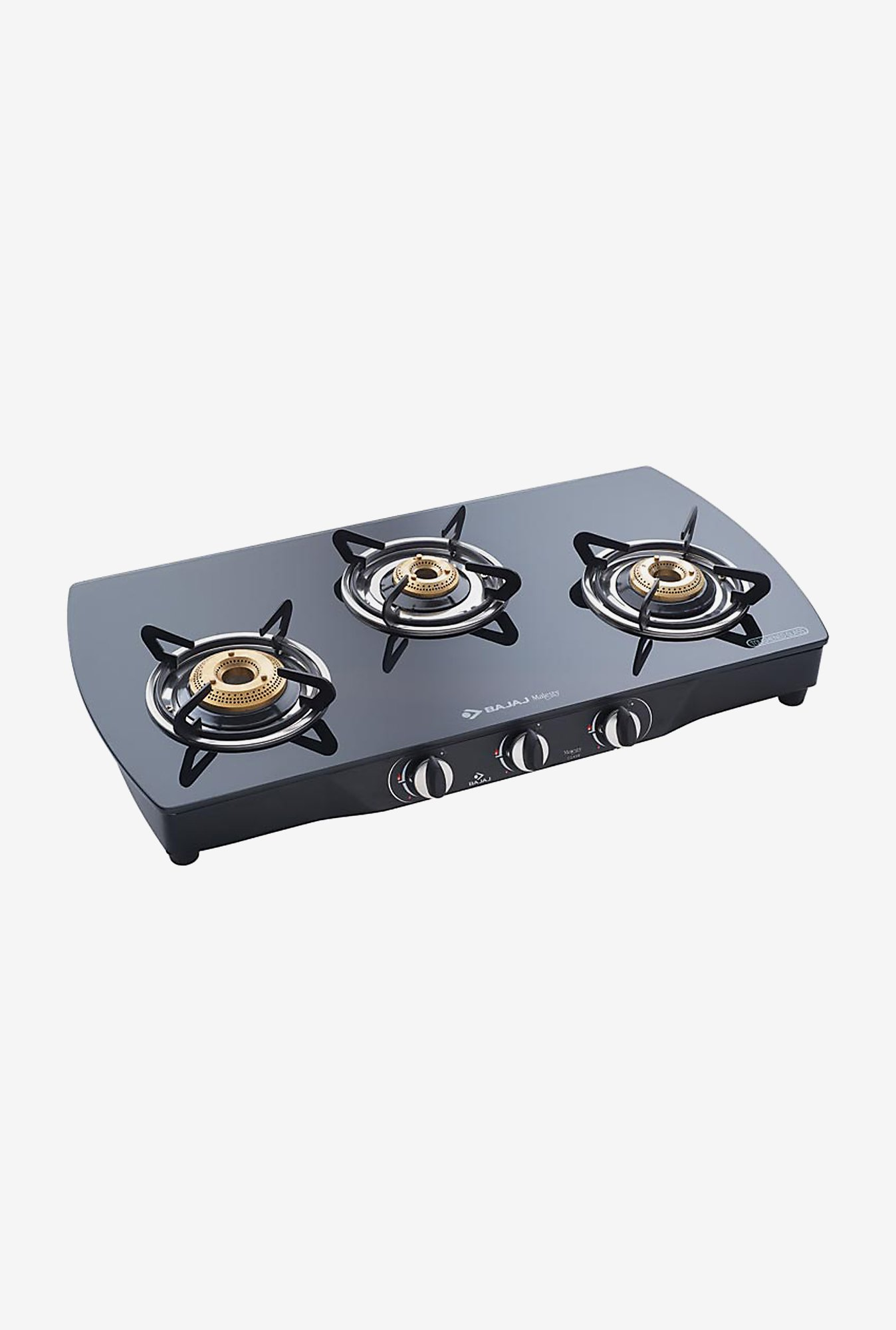 Bajaj CGX9 Glass Top 3 Burner Gas Cooktops (Black)