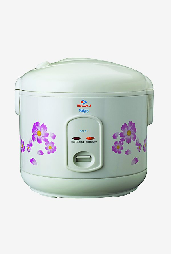 Bajaj RCX21 1.8 Ltr Electric Rice Cooker (White)