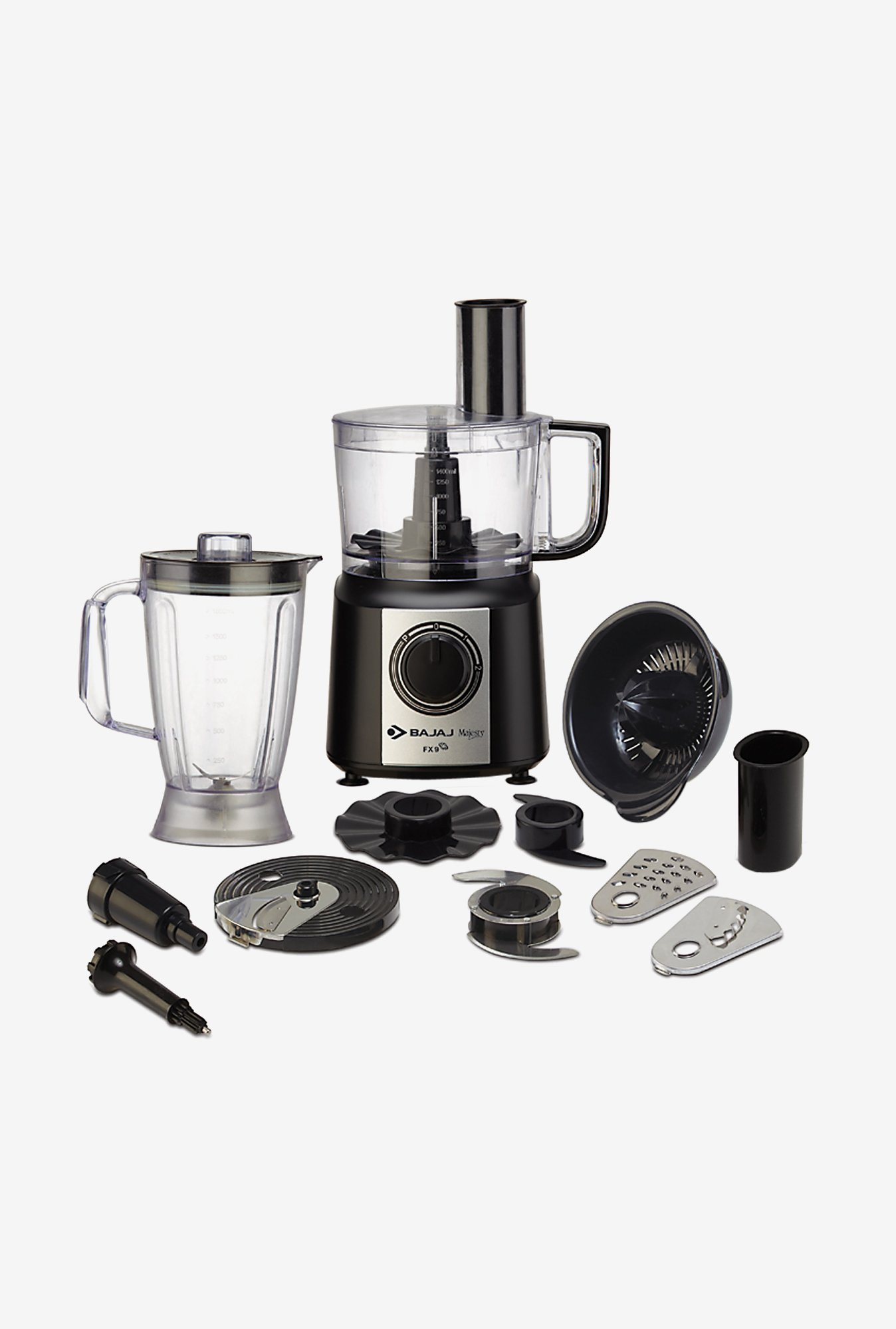 Bajaj Majesty FX9 Mini Food Processor (Black)
