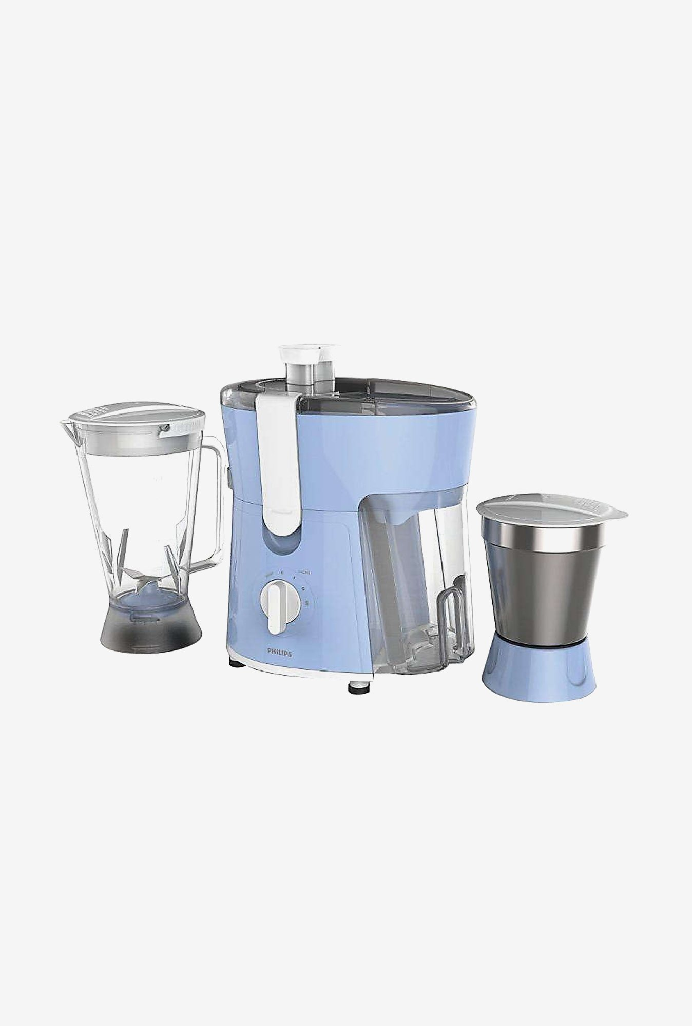 Philips HL7575/00 600W Juicer Mixer Grinder (White & Blue)