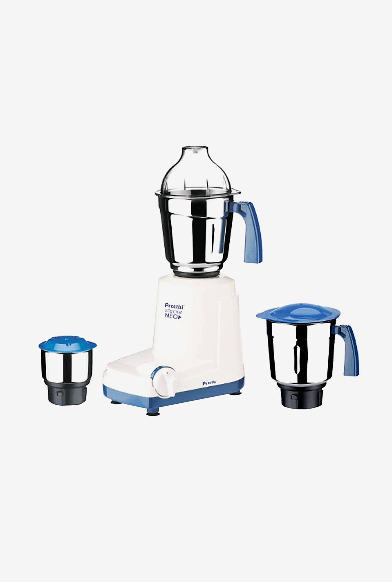 Preethi Eco Chef Neo MG199 500W Mixer Grinder (White & Blue)