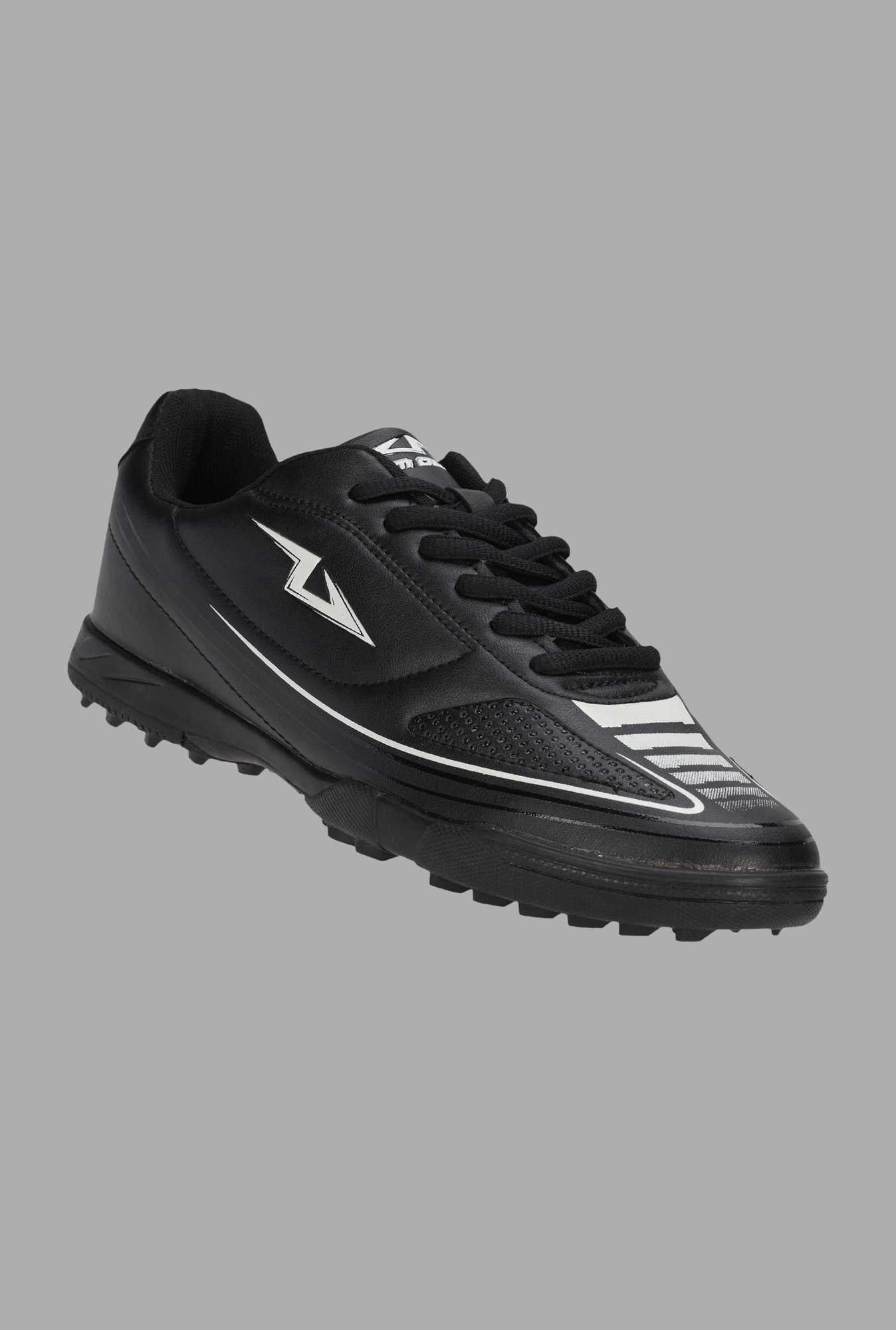 Team Quest Black Lace Up Football Shoes