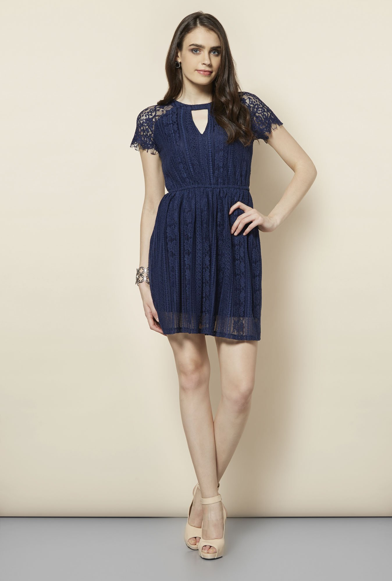 FG-4 Navy Rowna A-Line Dress