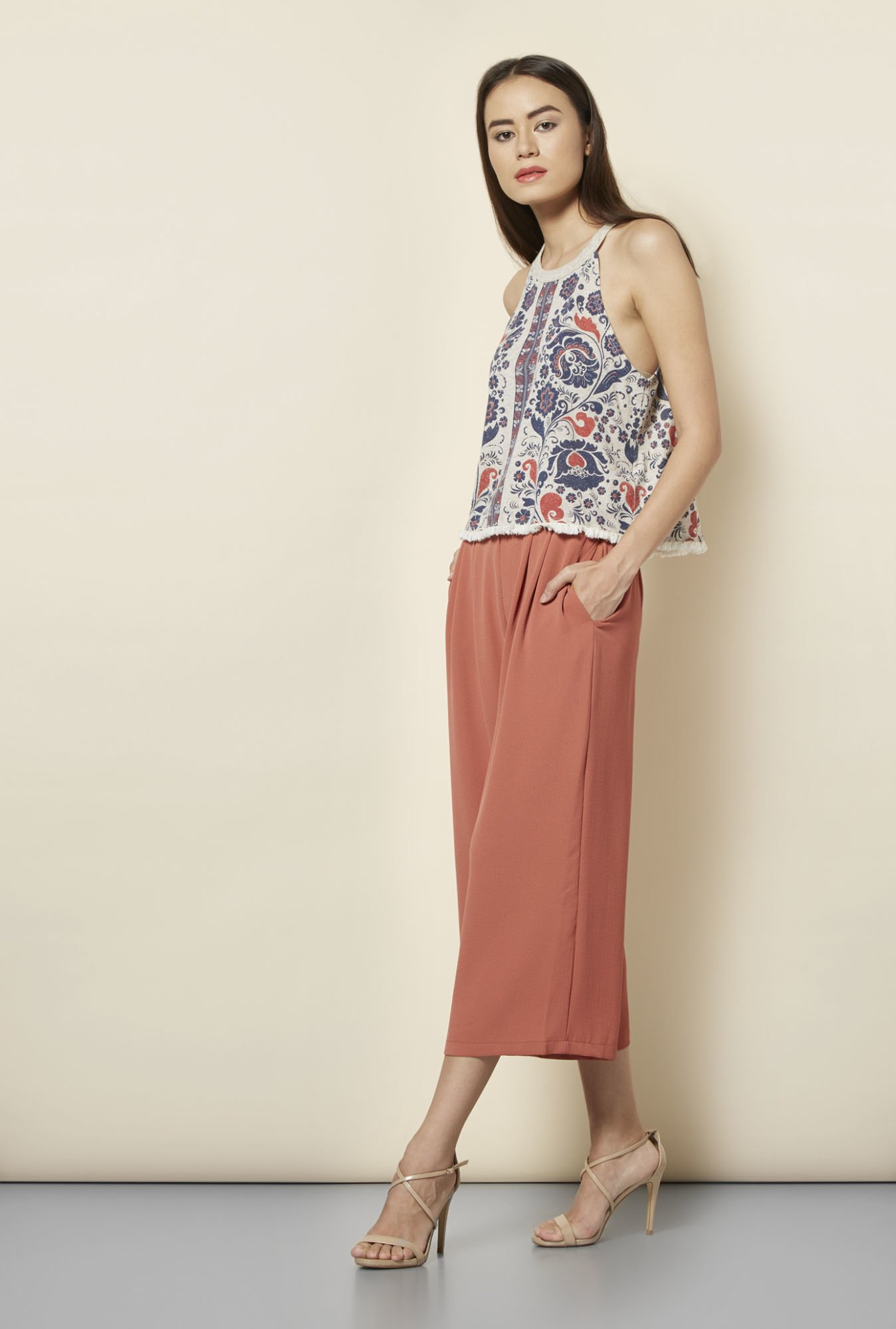 New Look Multicolor Floral Print Top