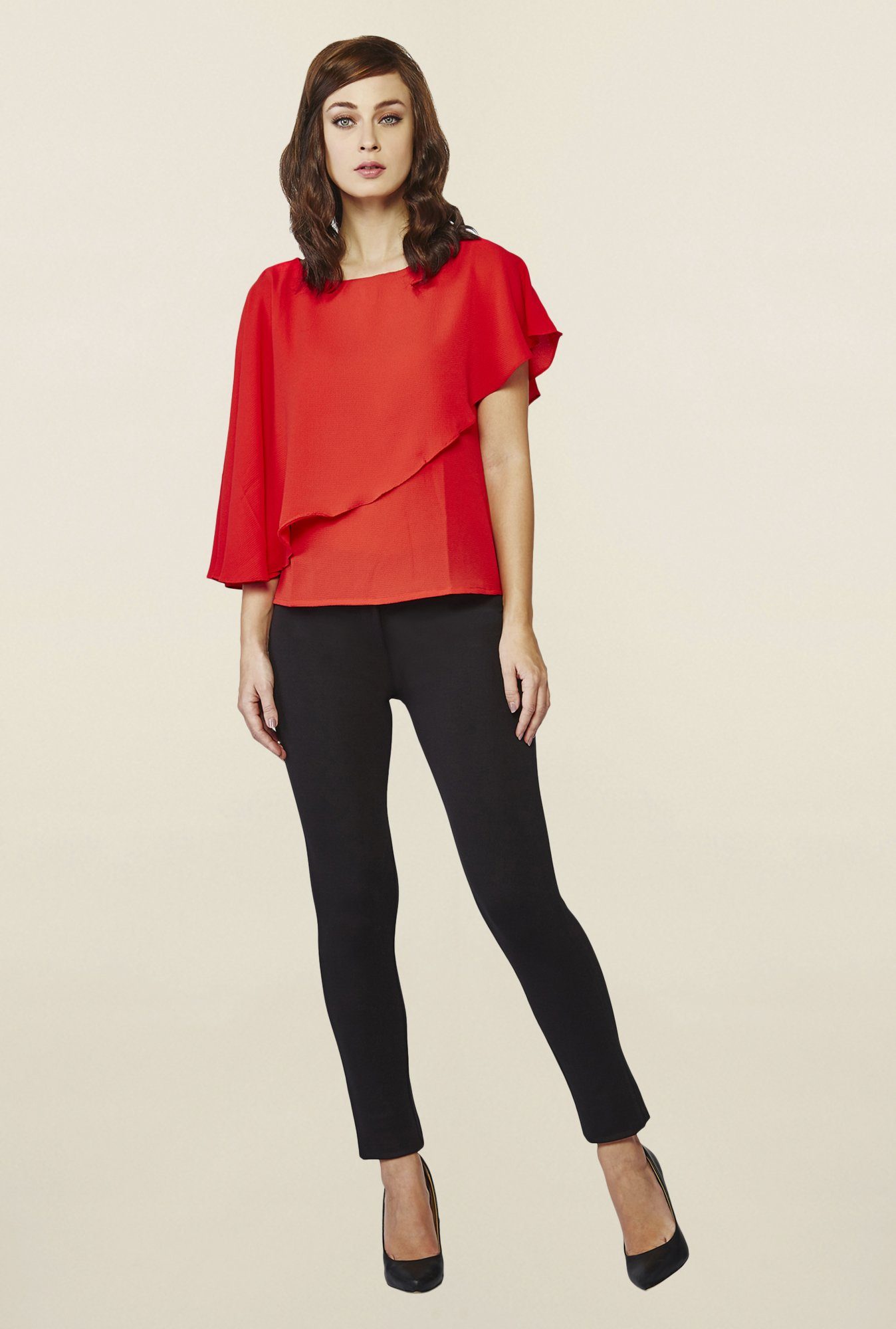 AND Red Ryesen Asymmetric Top