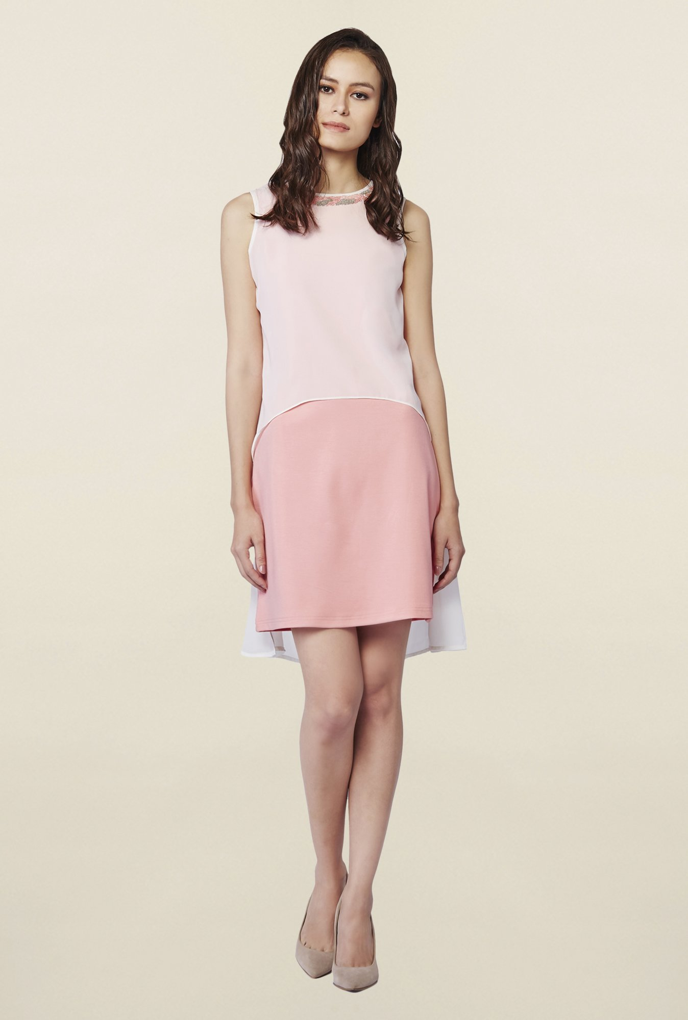 AND Rose Pink Solid Dress