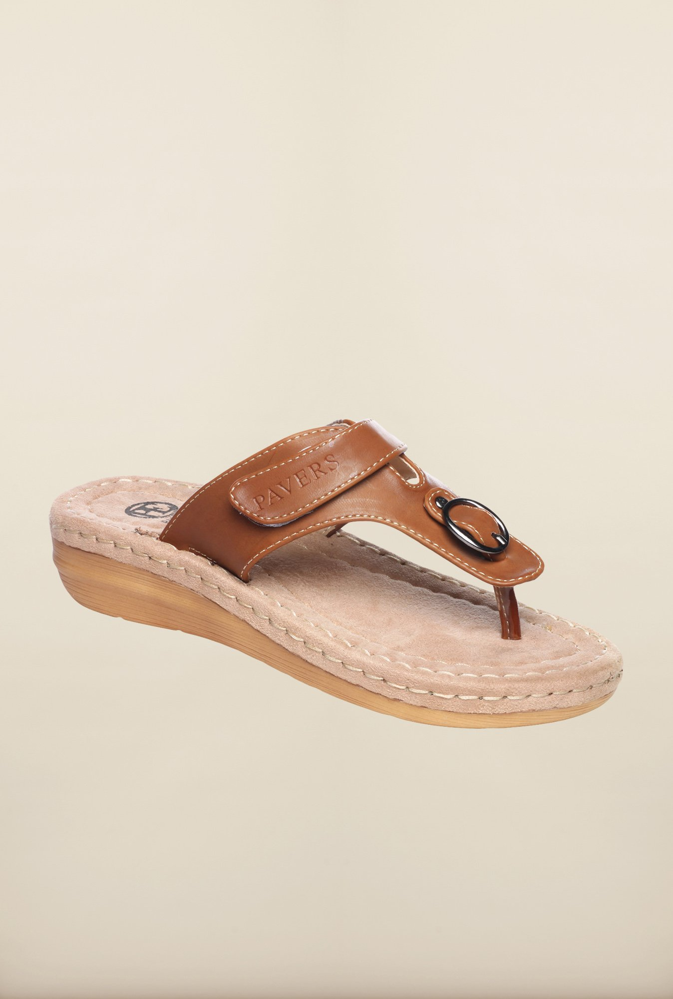 Pavers England Brown Thong Sandals
