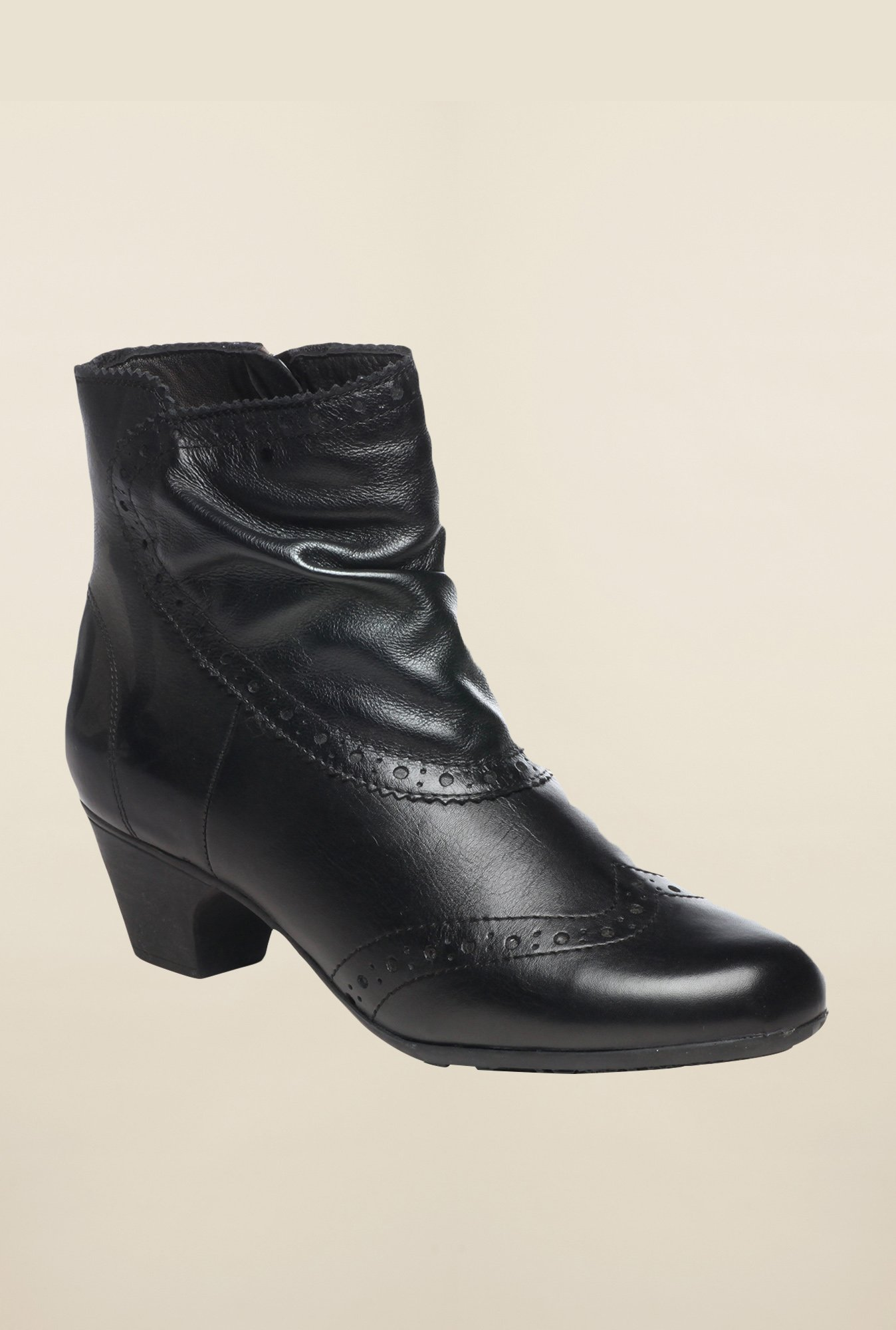 Pavers England Black Brogue Boots