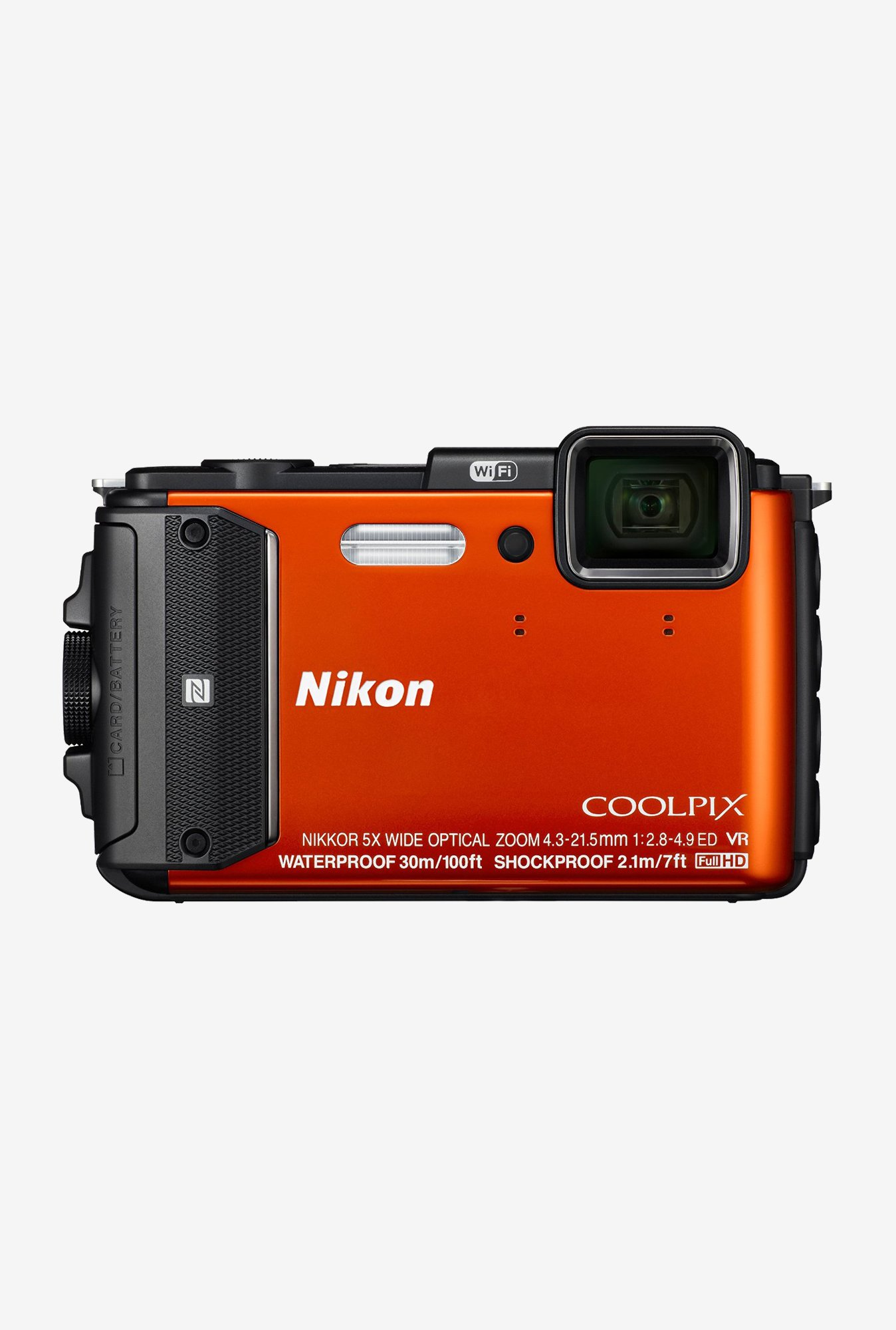 Nikon Coolpix AW130 Point and Shoot Camera (Orange)