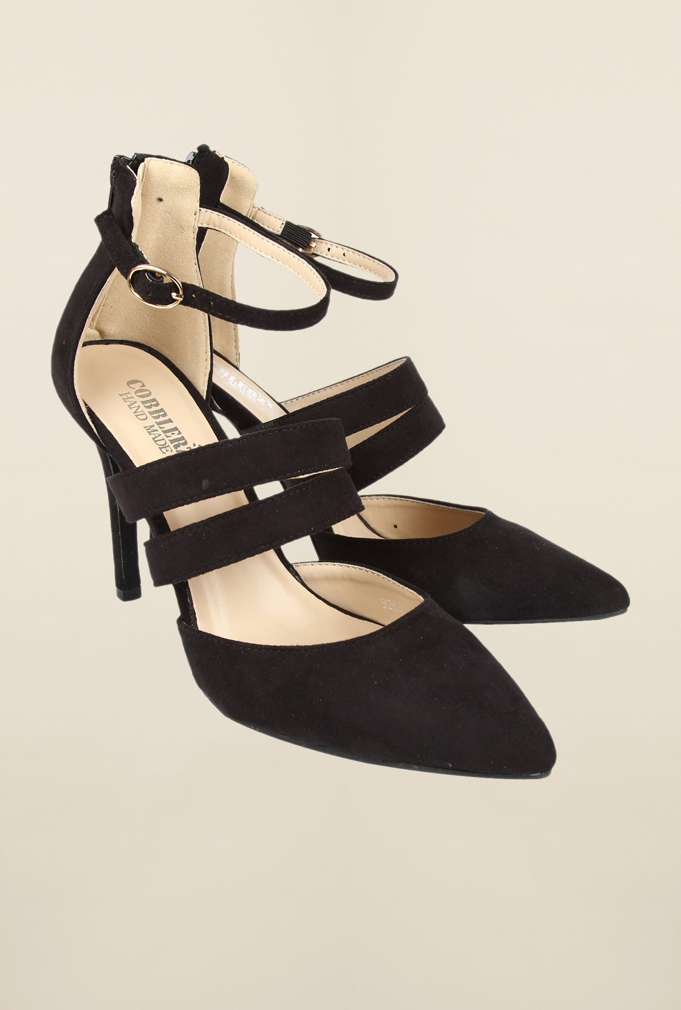 Cobblerz Black Stilettos Sandals