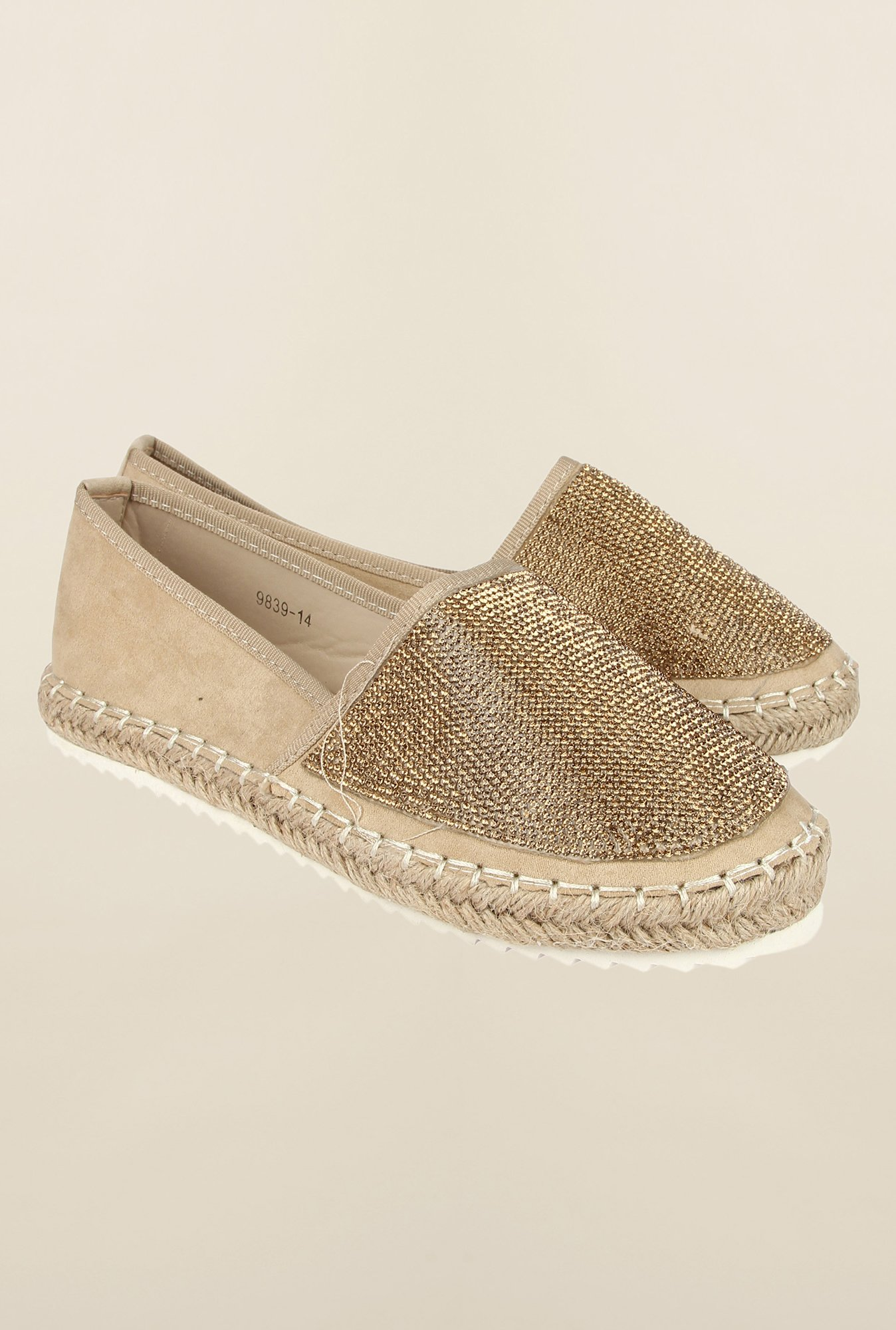 Cobblerz Beige Espadrille Shoes