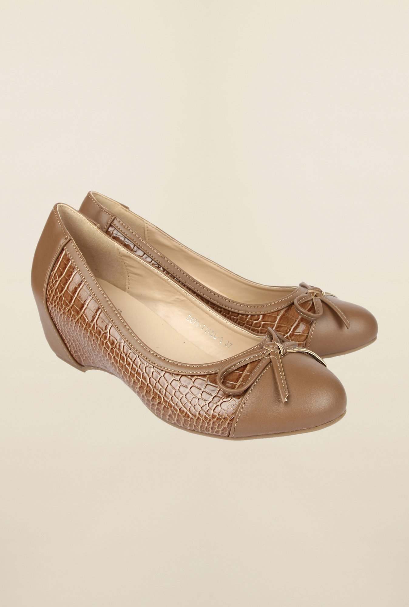 Cobblerz Beige Wedge Shoes