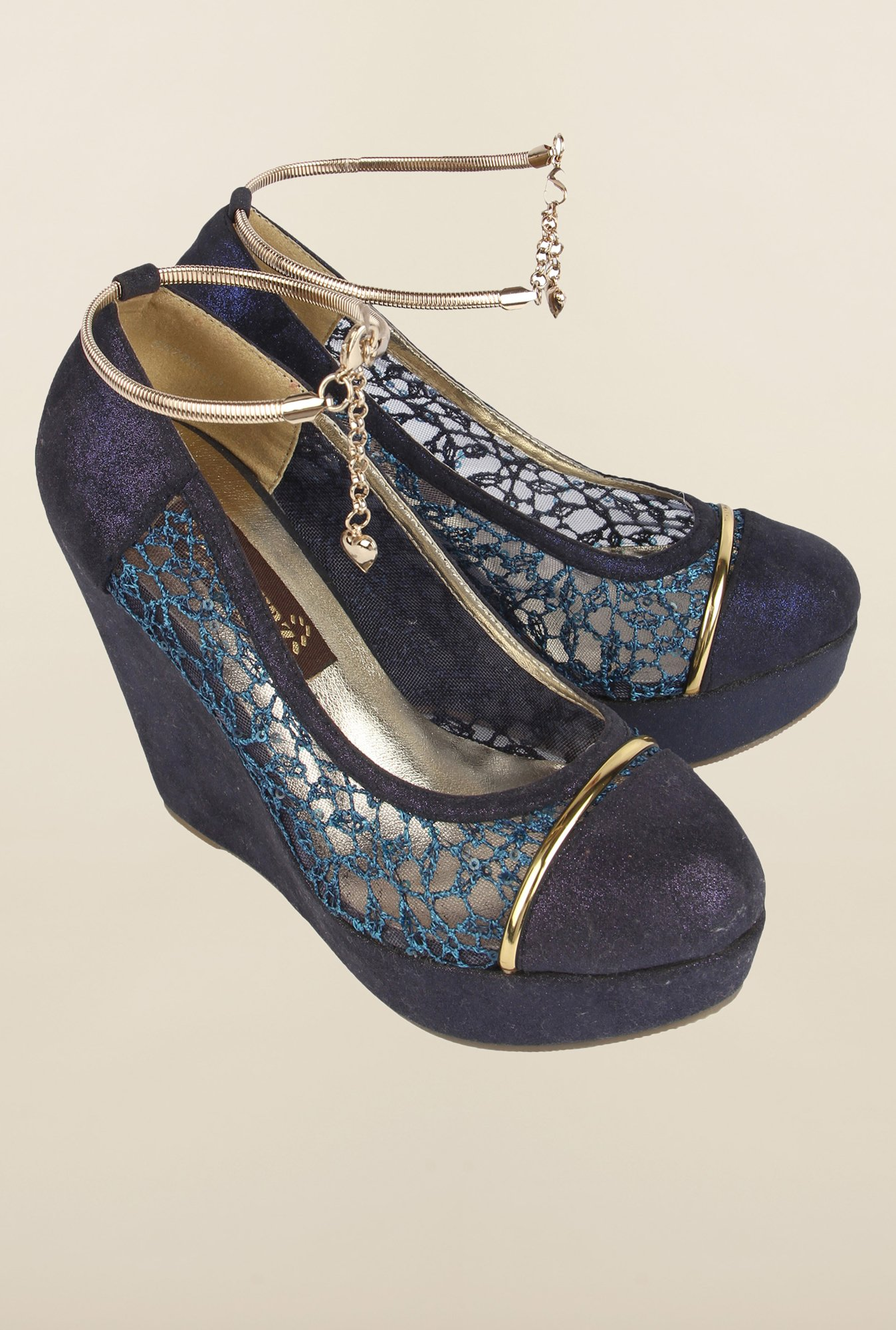 Cobblerz Navy Wedge Shoes