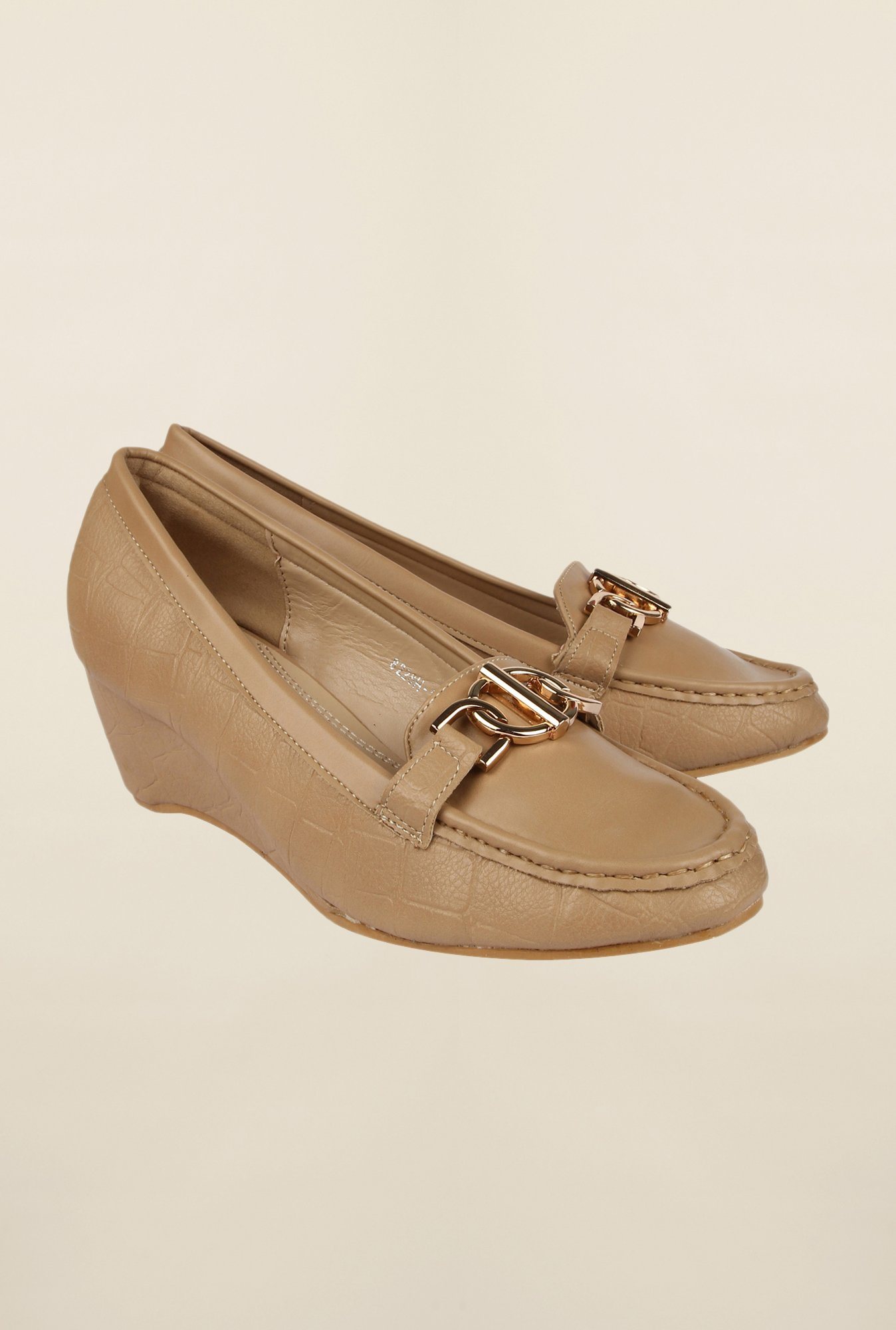 Cobblerz Beige Moccasin Shoes