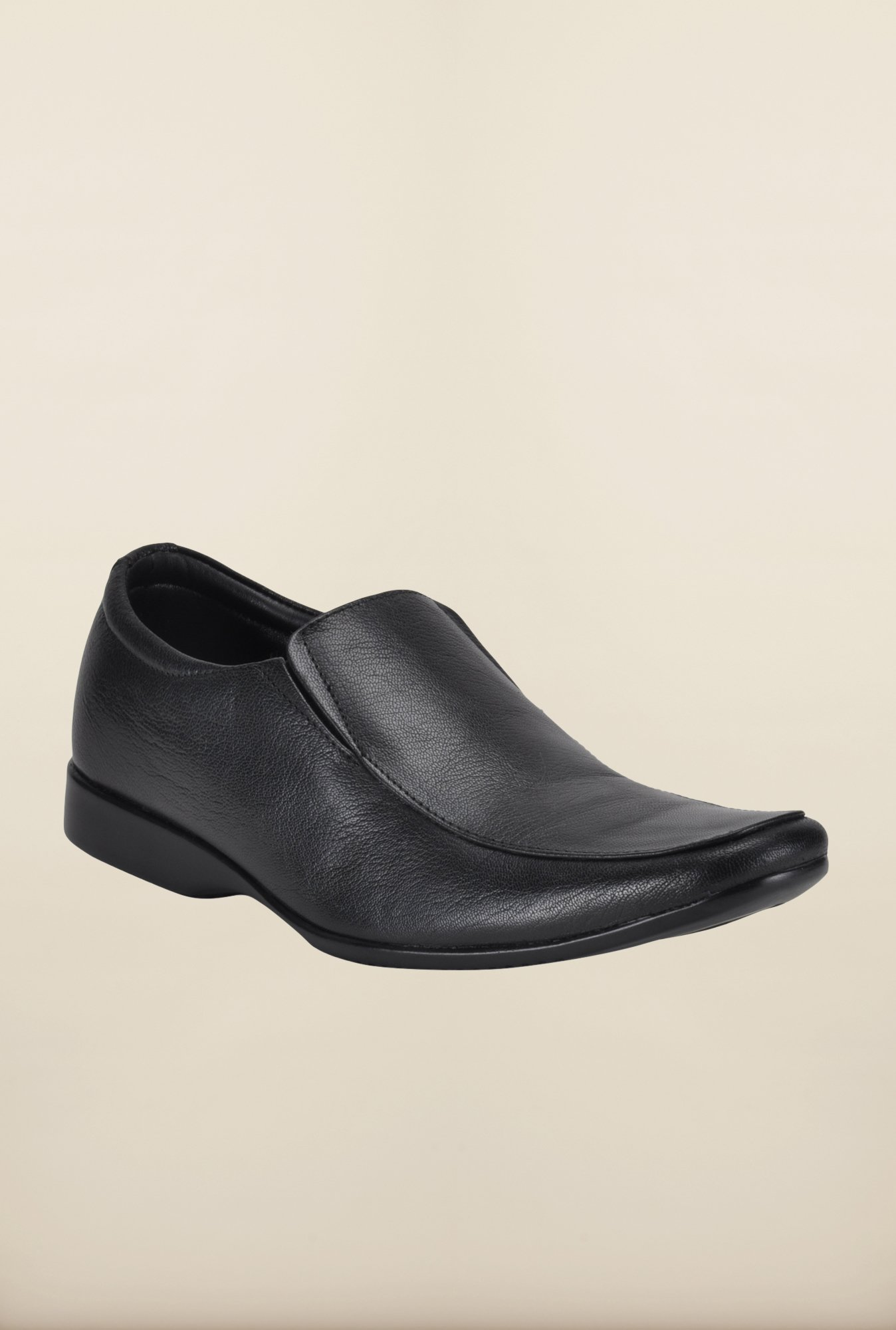 Franco Leone Black Formal Slip-Ons Shoes