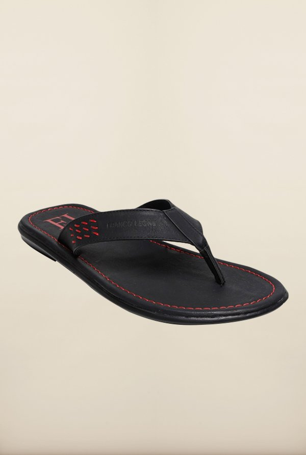 Franco Leone Black Slippers