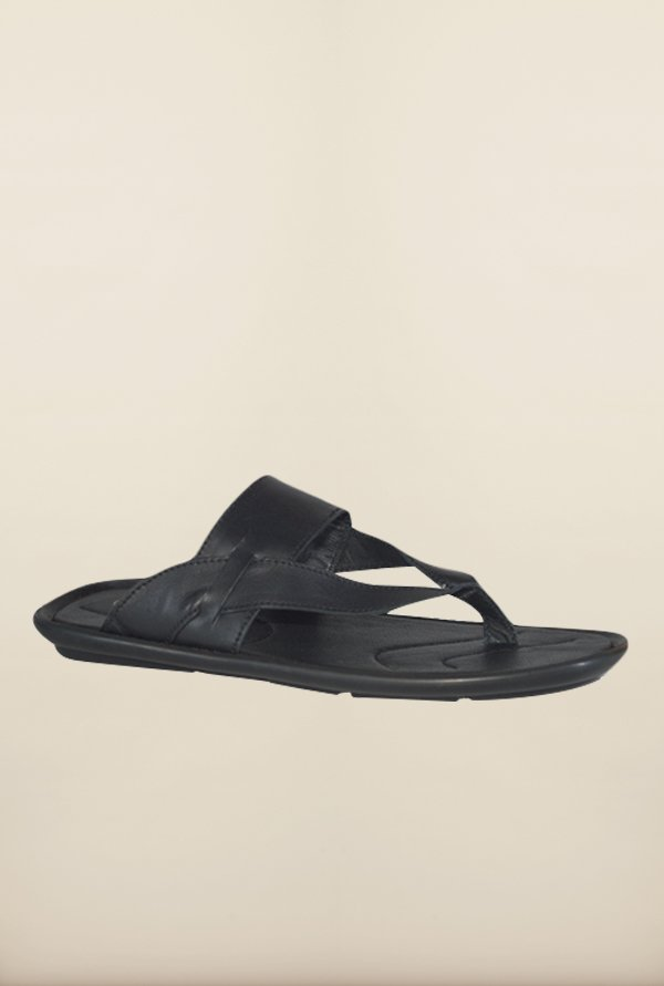 Franco Leone Black Thong Sandals