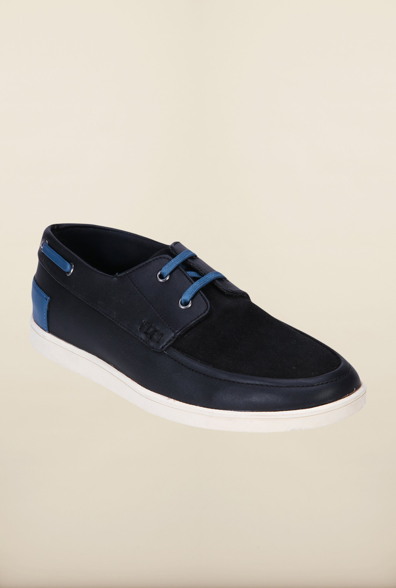 Franco Leone Black Boat Shoes