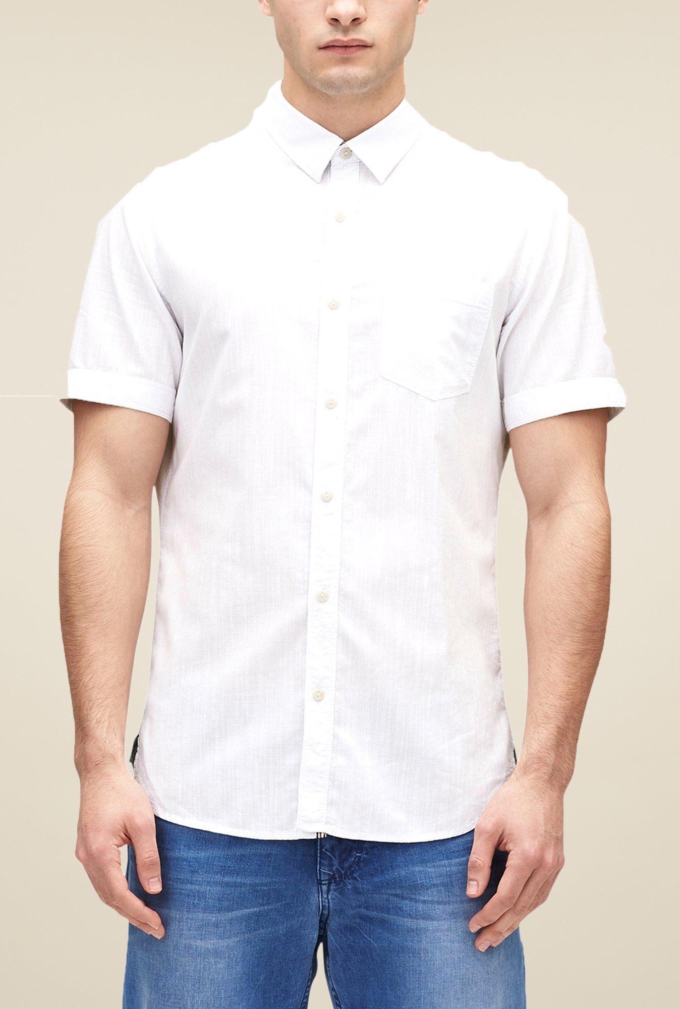 s.Oliver White Striped Shirt