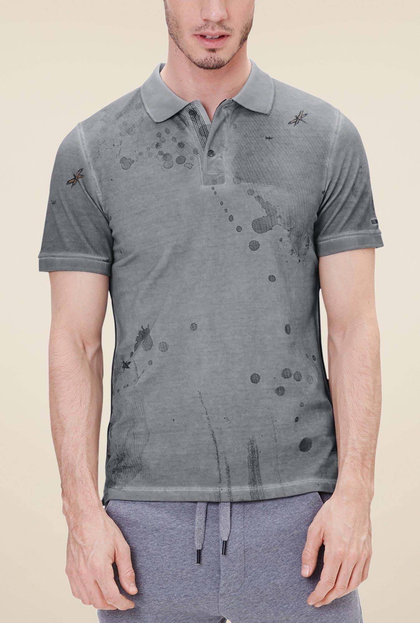 buy s oliver grey printed t shirt online at best price at. Black Bedroom Furniture Sets. Home Design Ideas