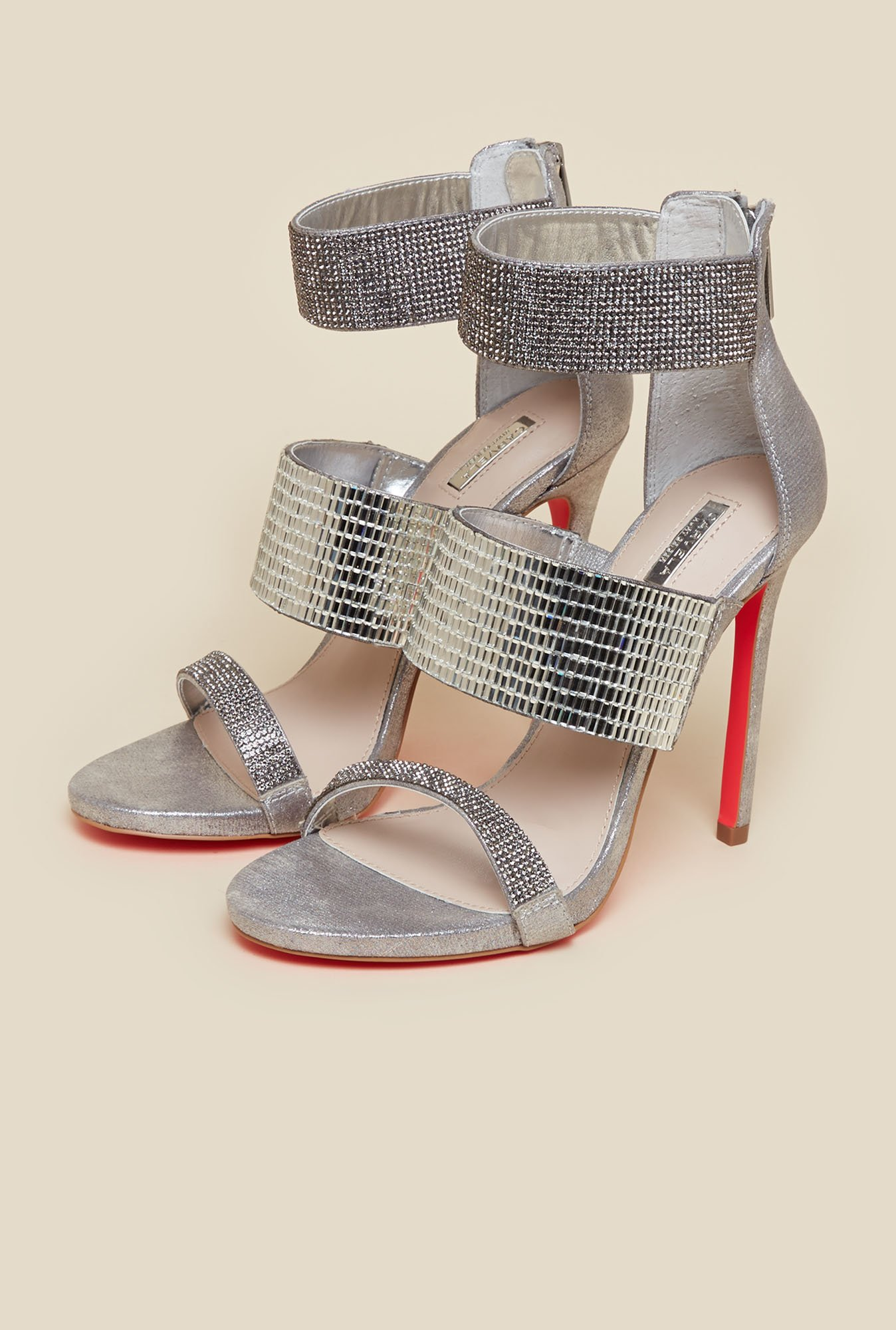 Carvela by Kurt Geiger Silver Globe Sandals
