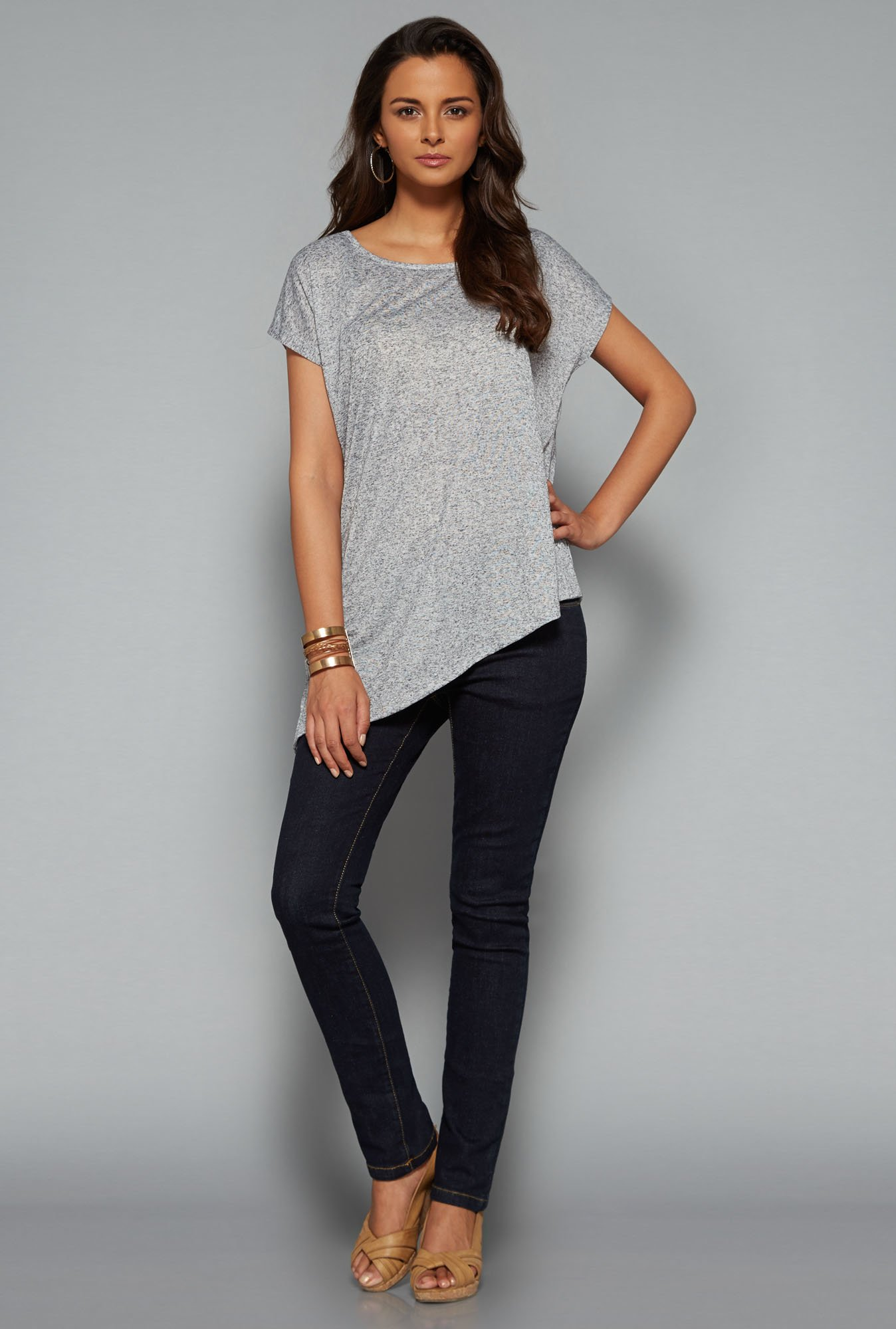 LOV Grey Printed T Shirt