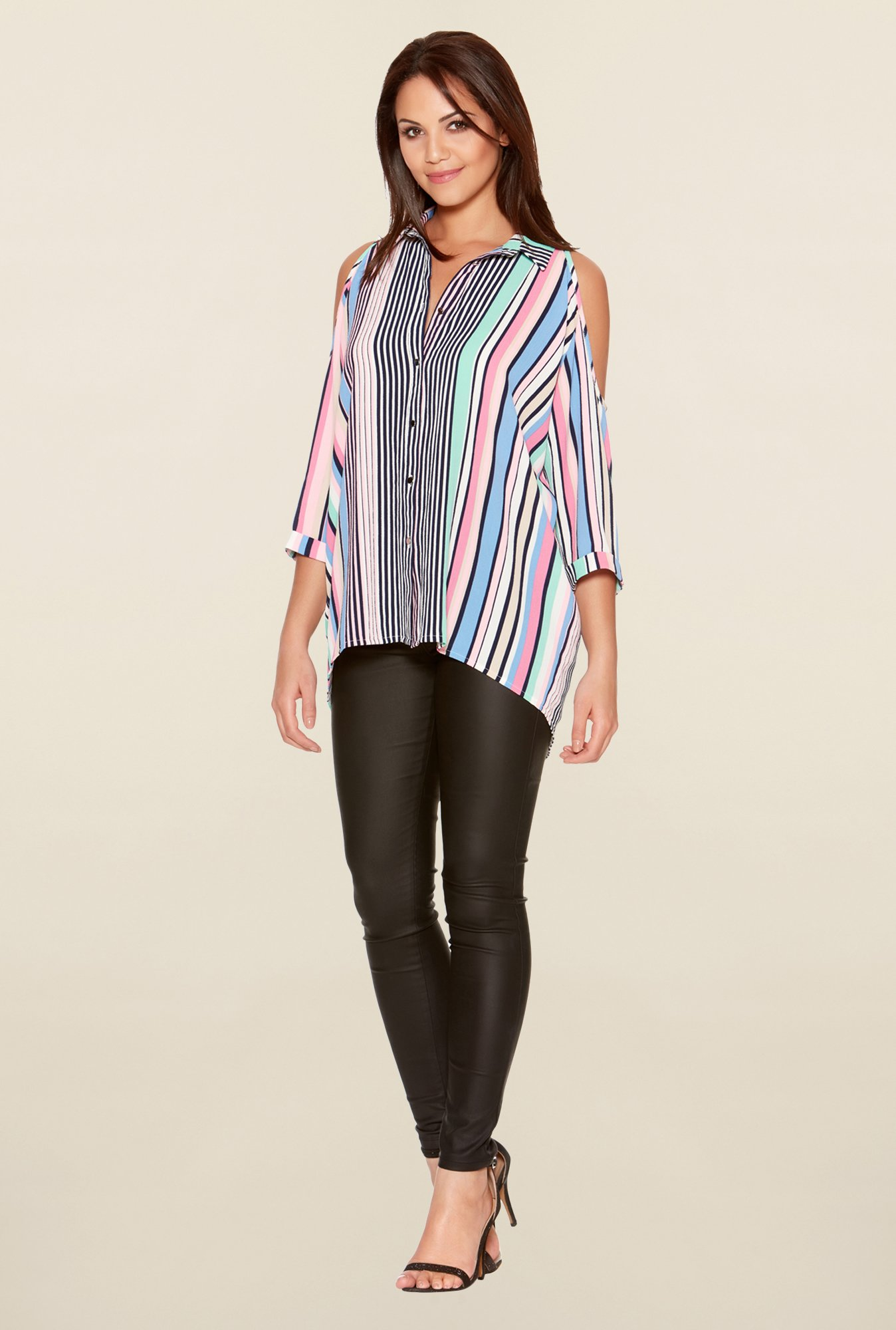 Quiz Multicolor Striped Shirt