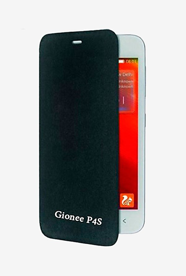 Noise Flip Cover for Gionee Pioneer P4S (Black)