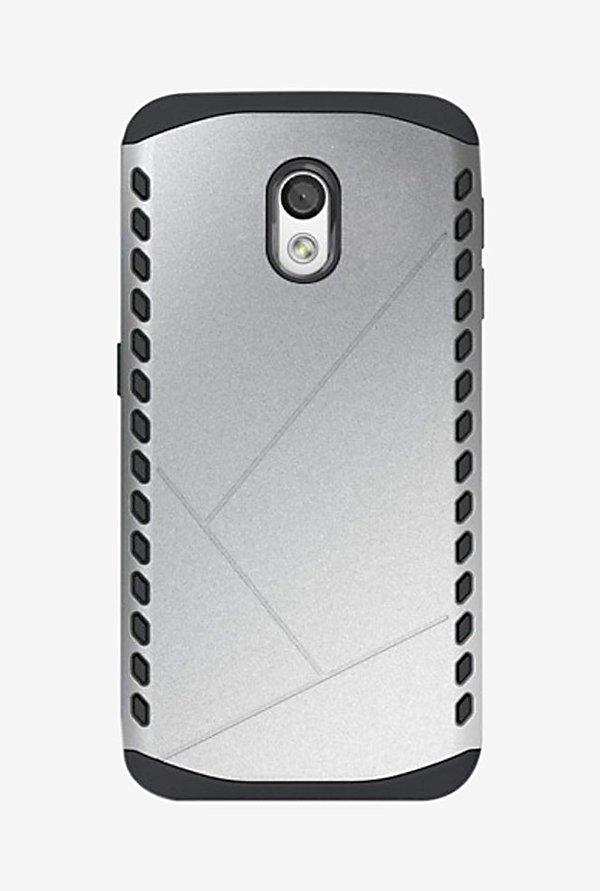 Noise Shield Back Case for Motorola Moto X Play (Silver)