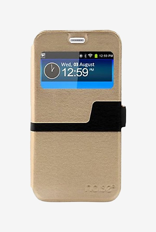Noise Flip Cover for Samsung Galaxy Note 5 (Gold)