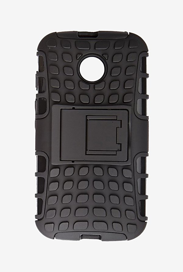 Noise Hybrid Back Case for Motorola E (Black)