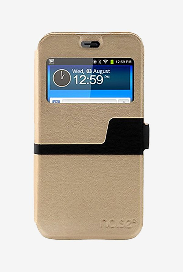 Noise Flip Cover for Samsung Galaxy S6 Active (Gold)