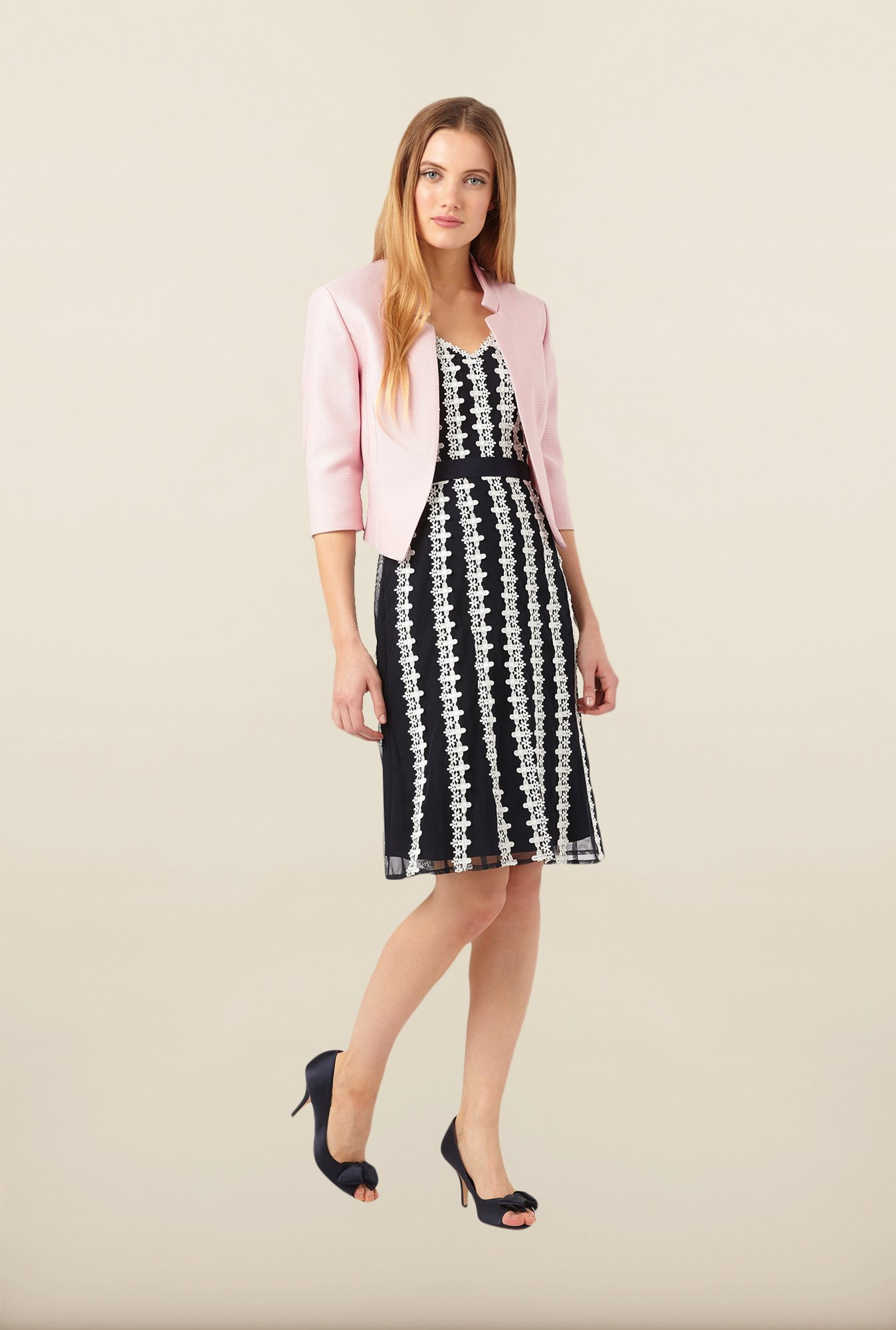 Phase Eight Pink Textured Jacket