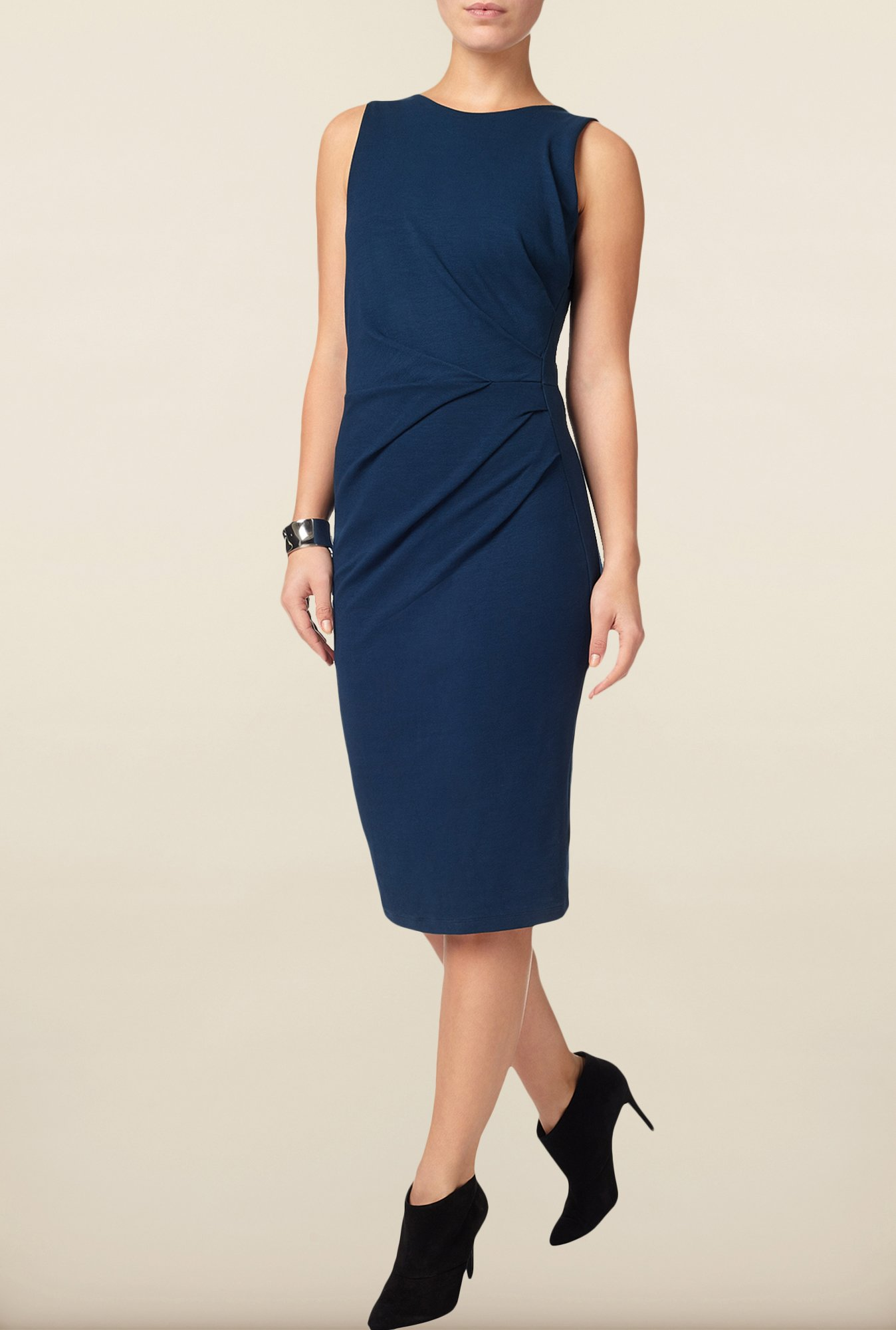 Phase Eight Navy Solid Casual Dress