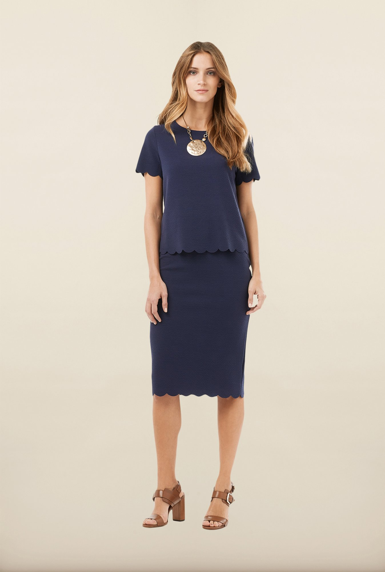 Phase Eight Navy Solid Top