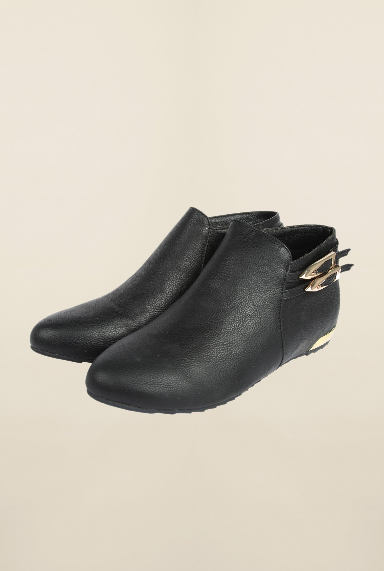 Cobblerz Black Leather Booties