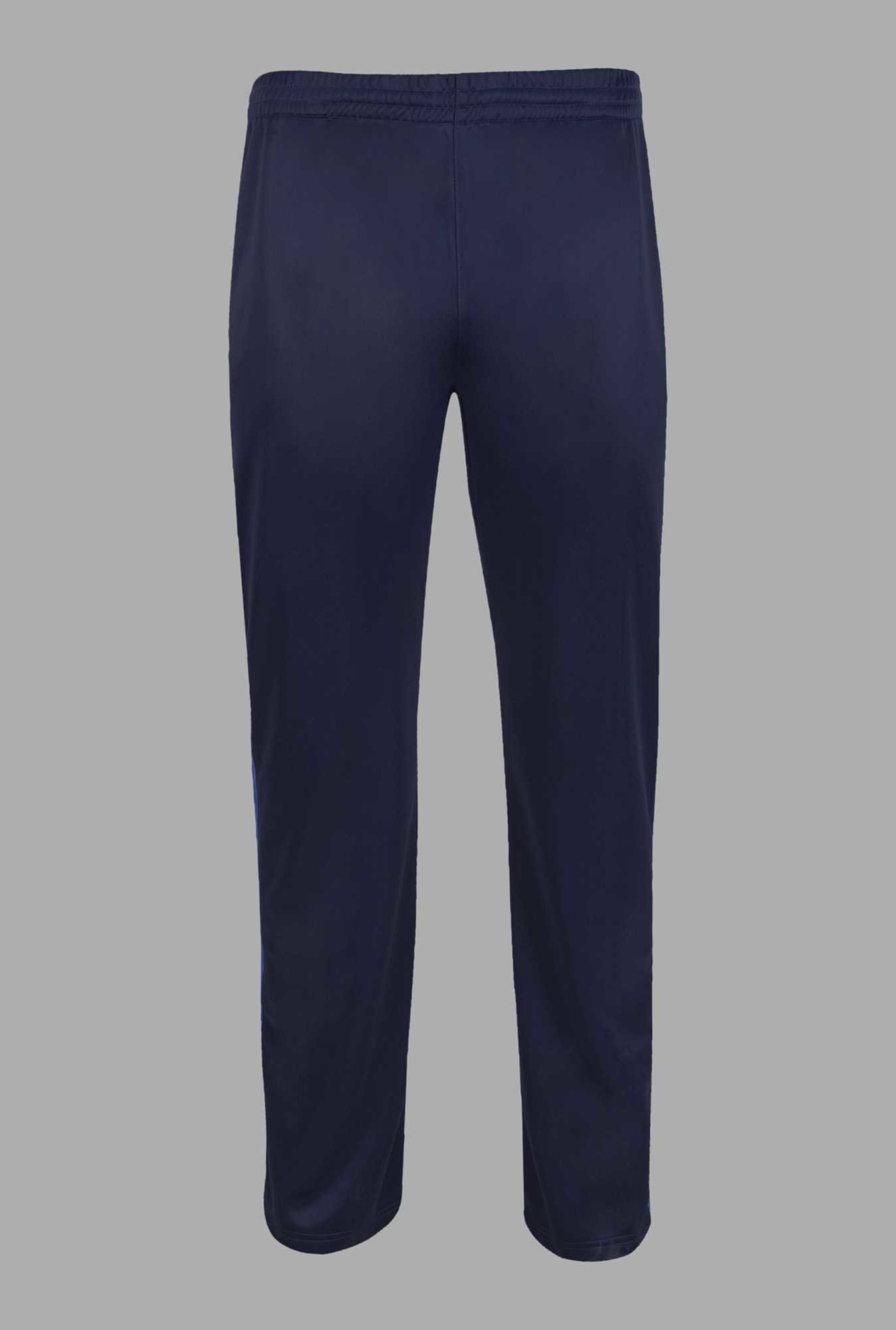 Doone Navy Solid Training Track Pants