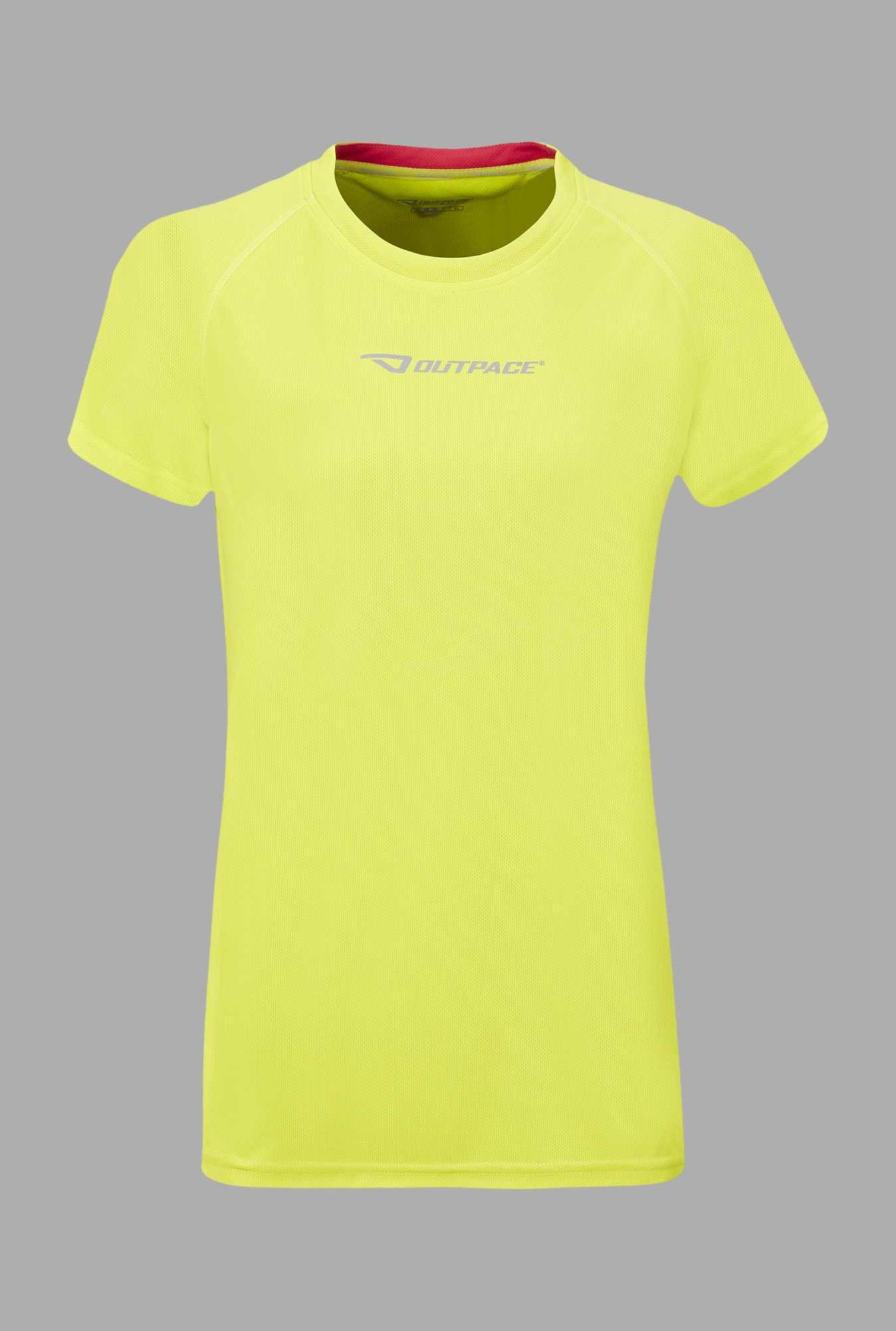 Outpace Lime Green Running T Shirt