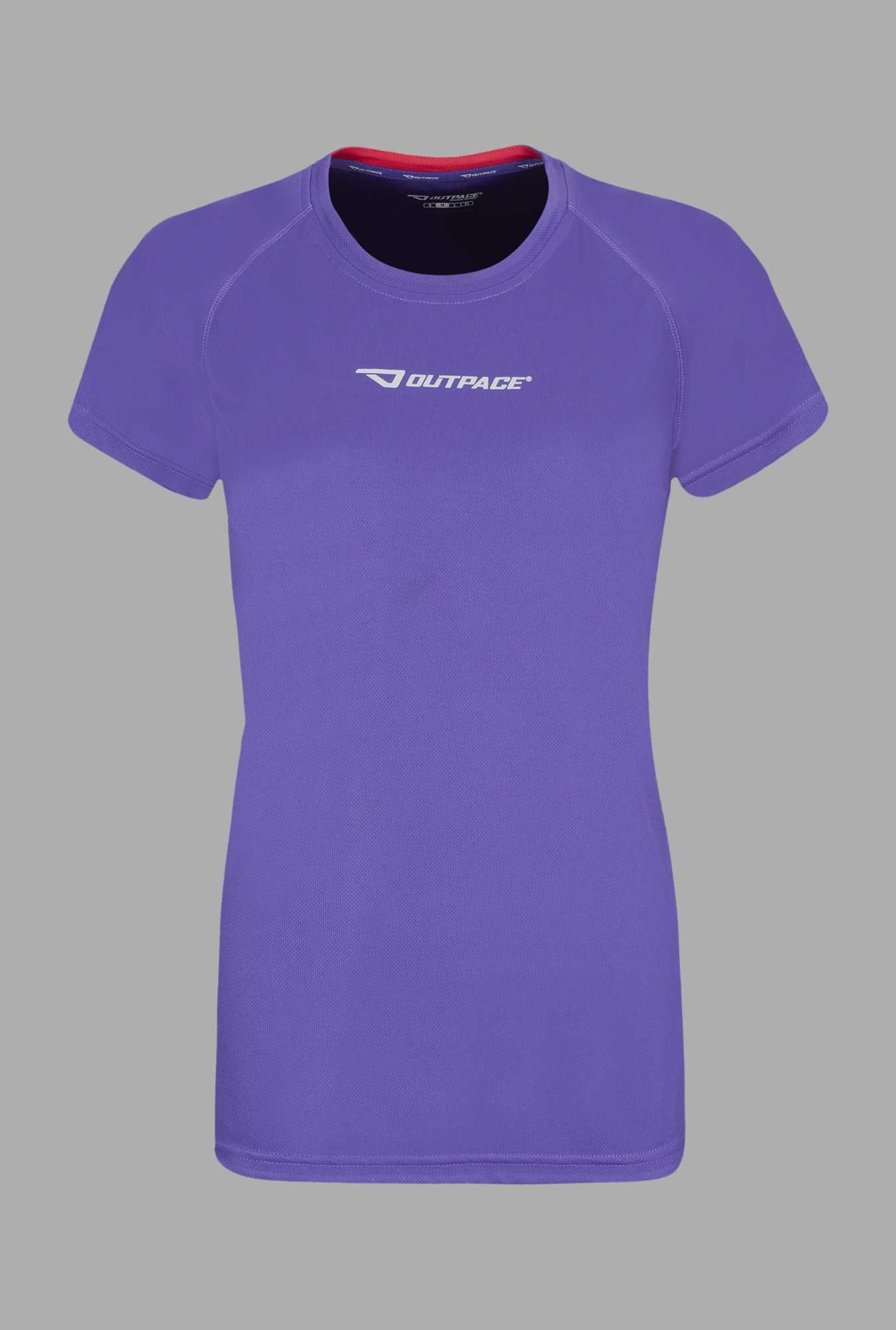 Outpace Purple Running T Shirt