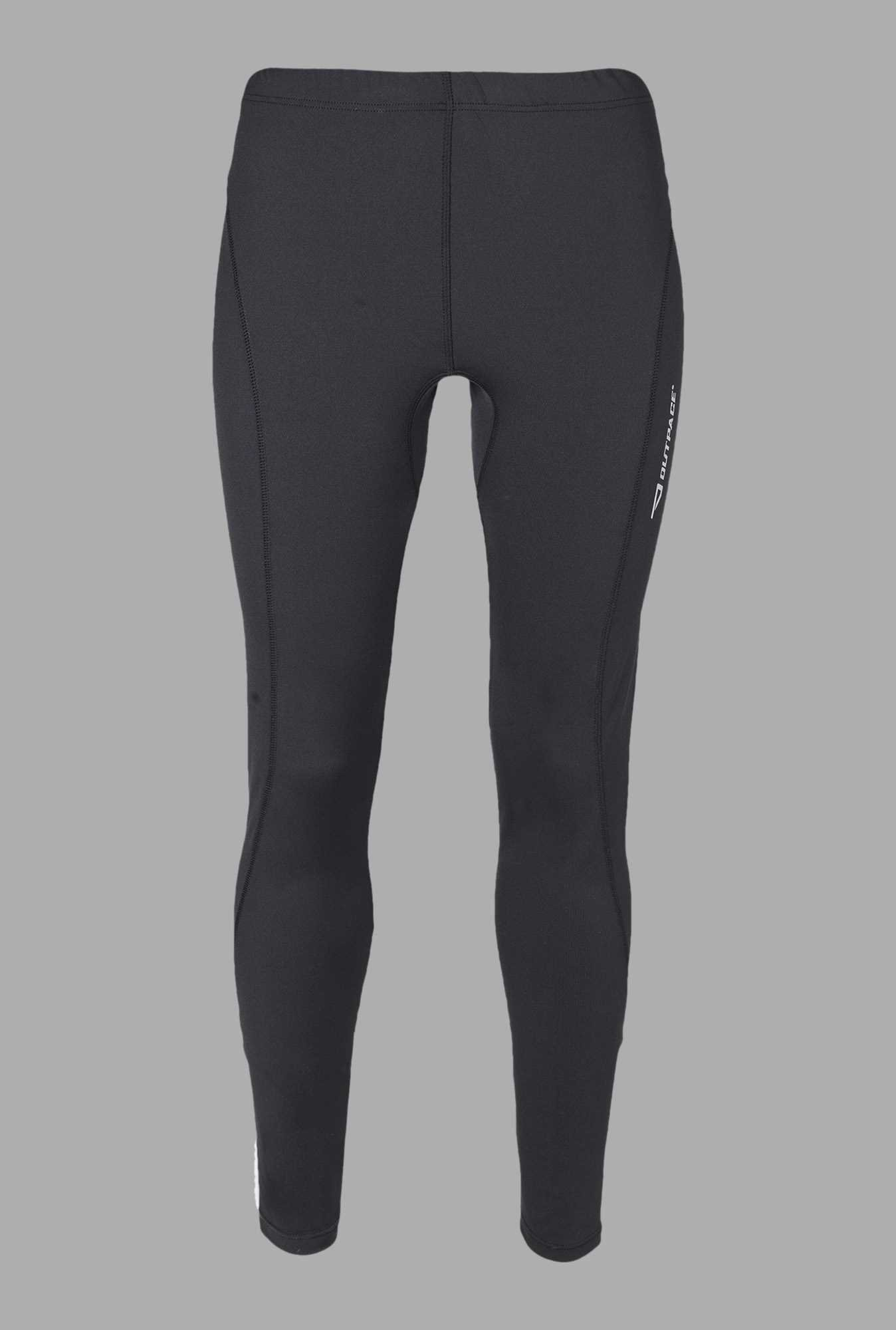 Outpace Black Running Track Pants