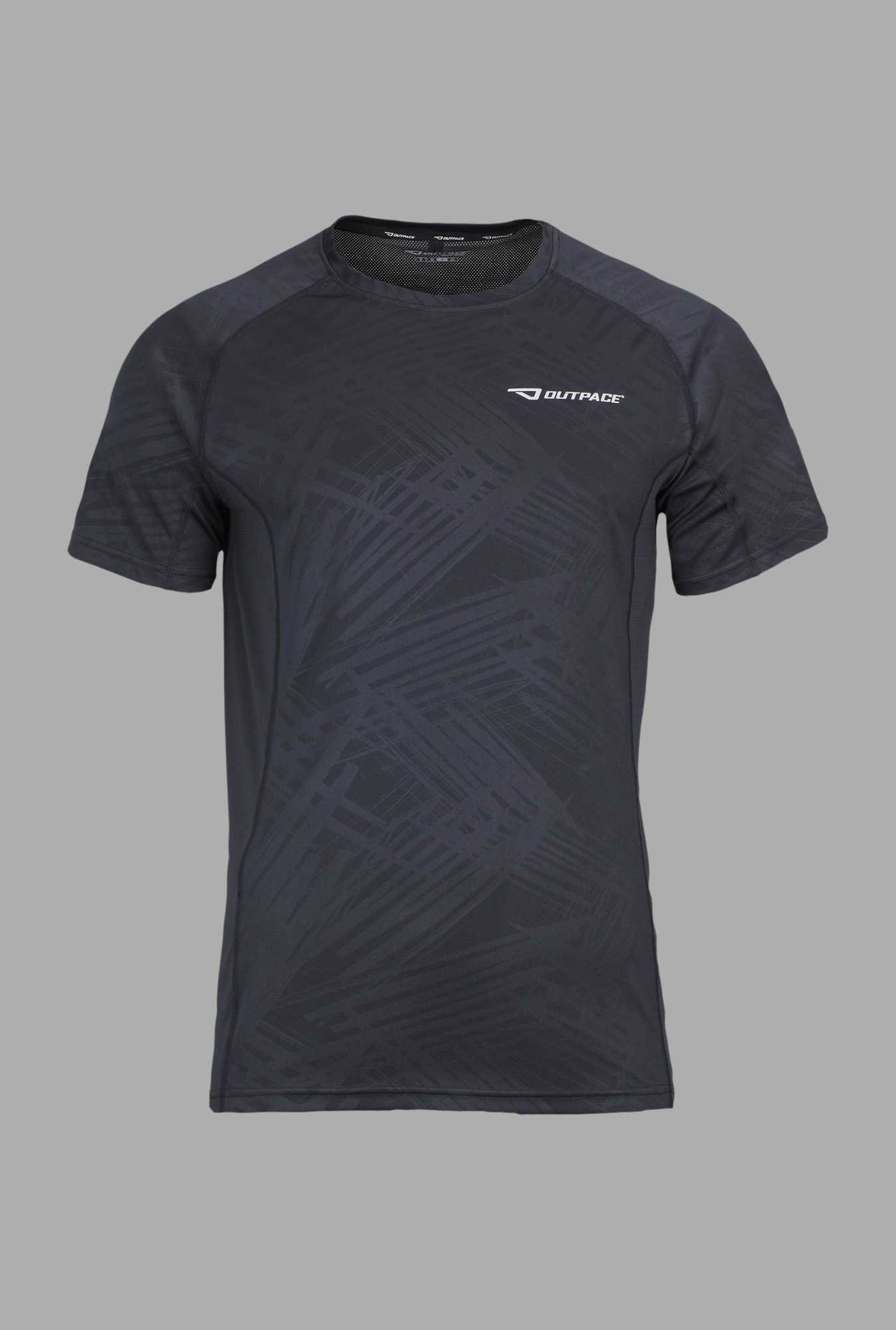 Outpace Black Running T Shirt