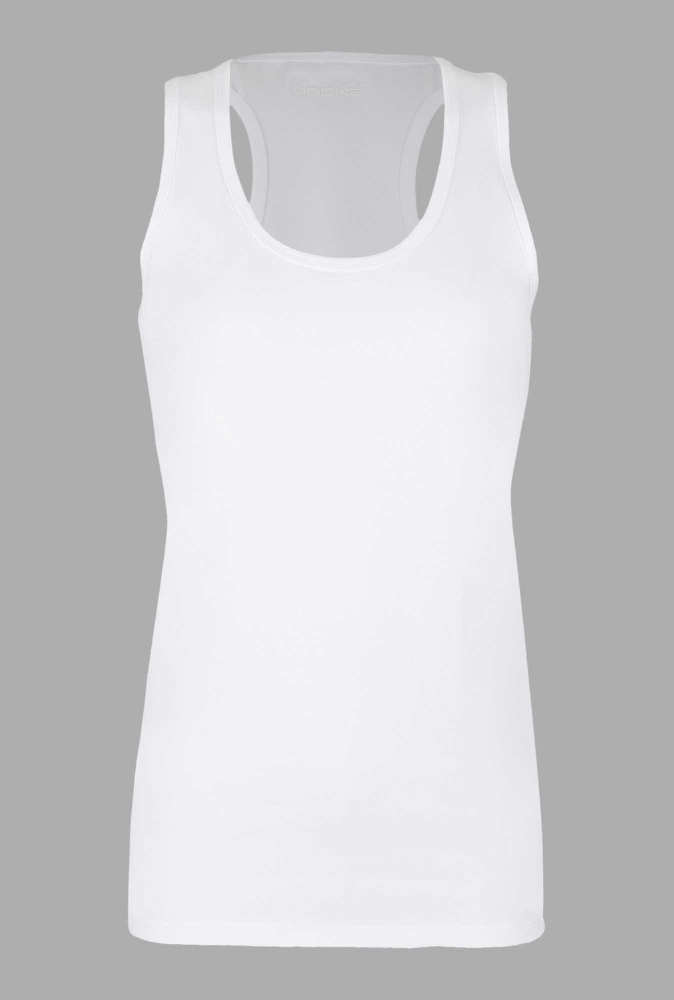 Doone White Slim Fit Training Singlet