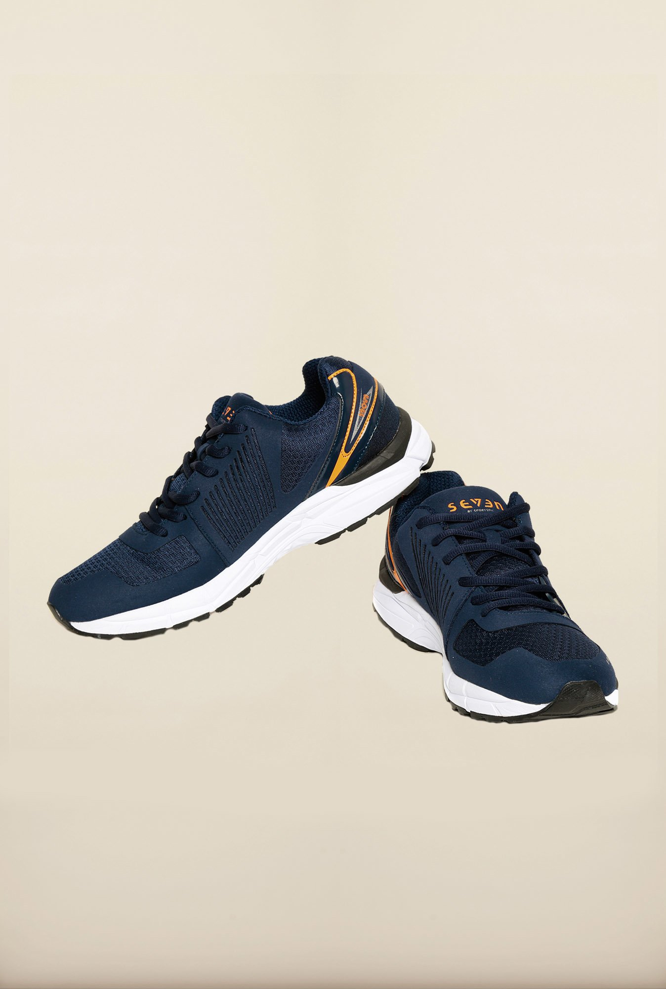 Seven Navy & Orange Running Shoes