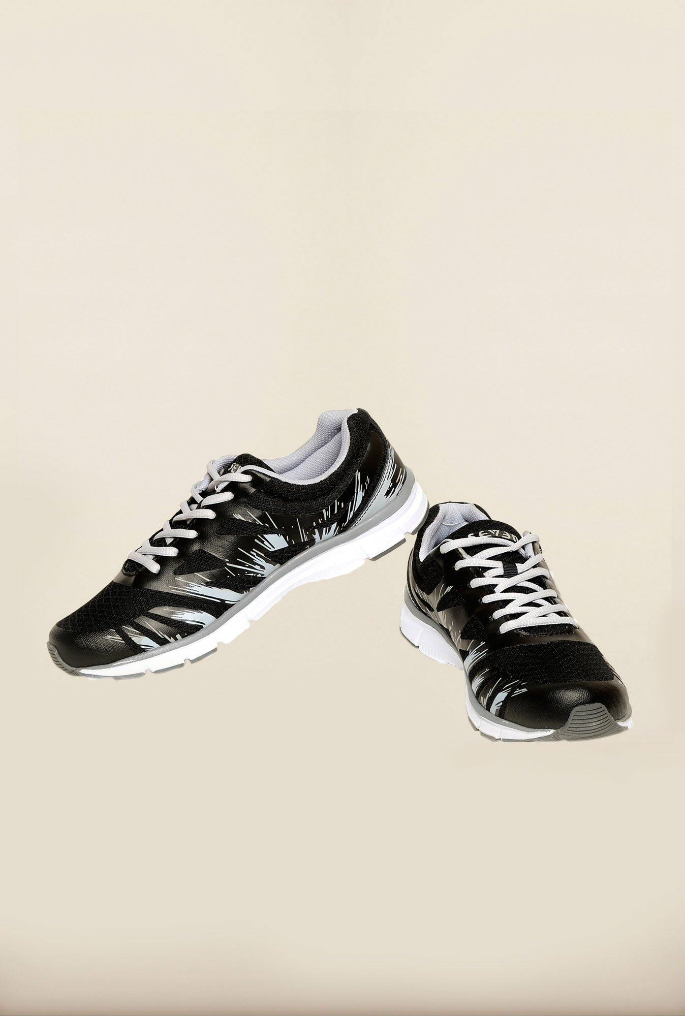 Seven Black & Grey Training Shoes